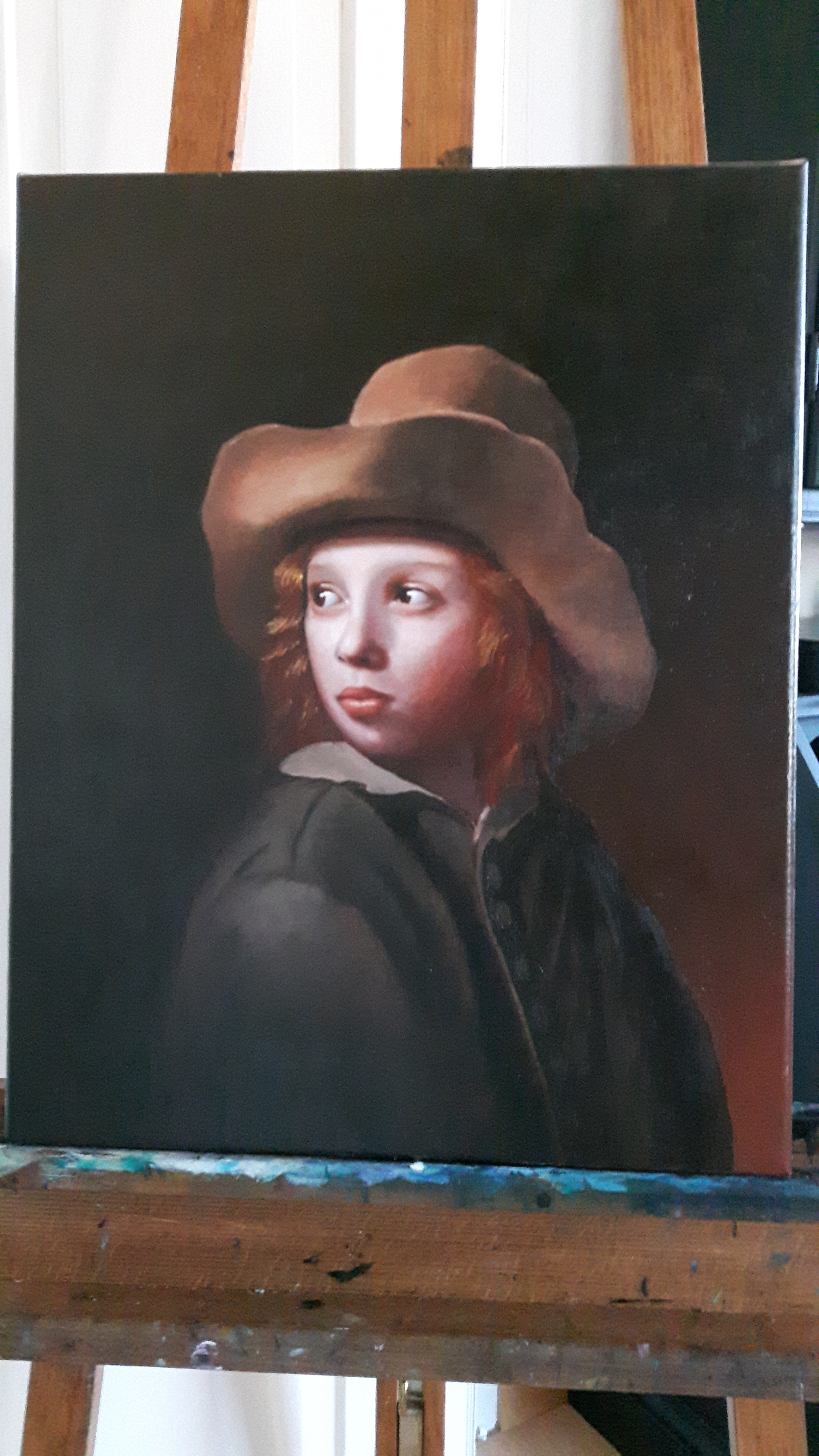 "Study of ""Boy with a hat"""