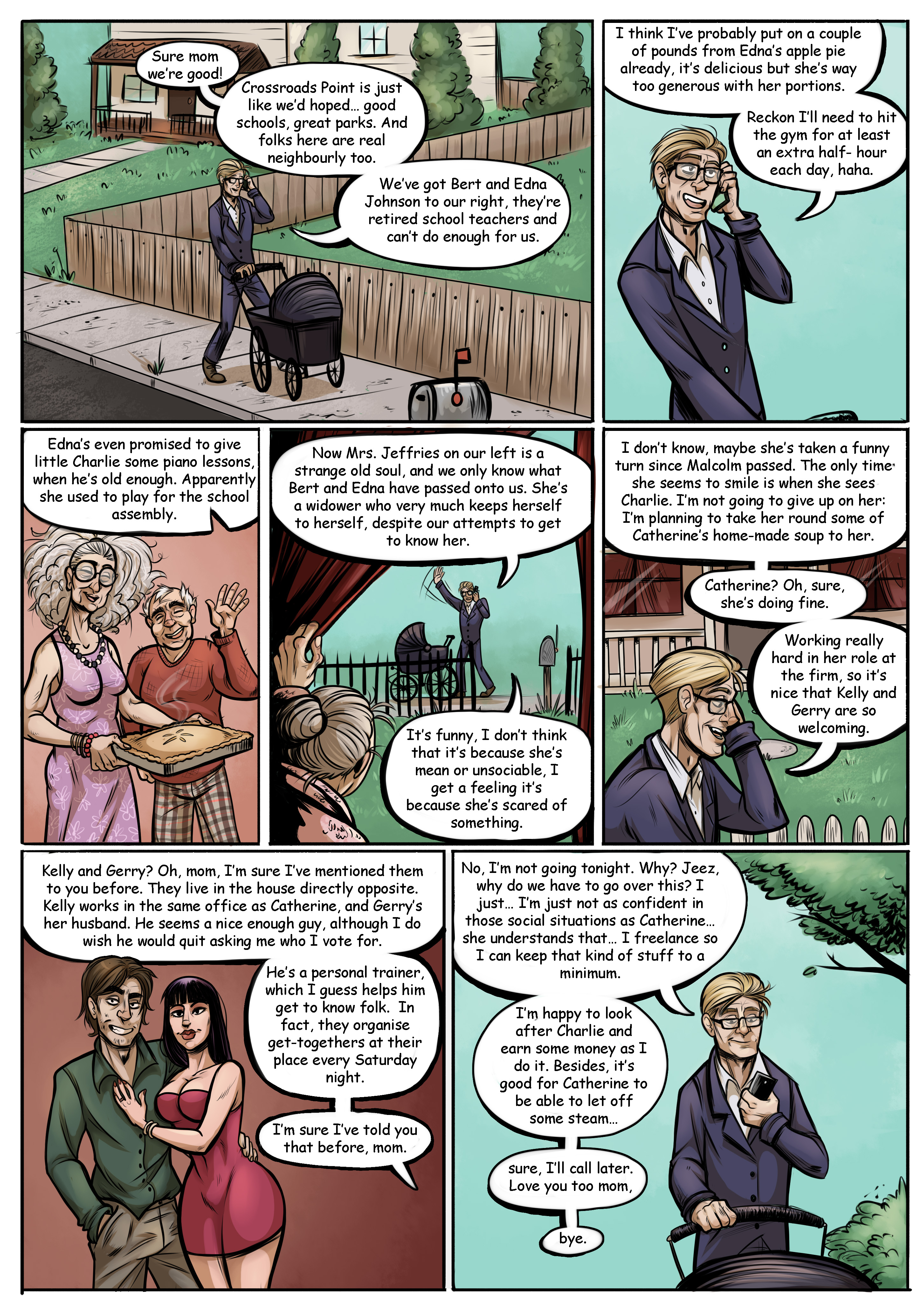 Saturday Night Seance Supernatural Horror Comedy Webcomic Page 1