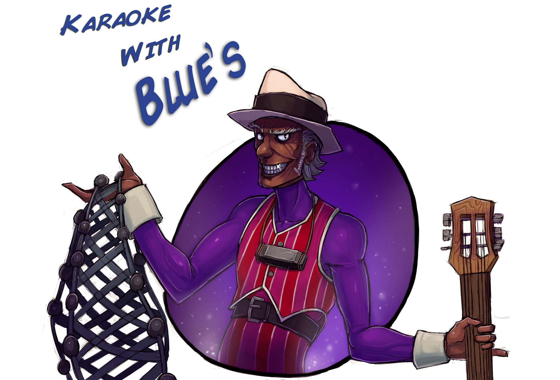 Black Blues Player