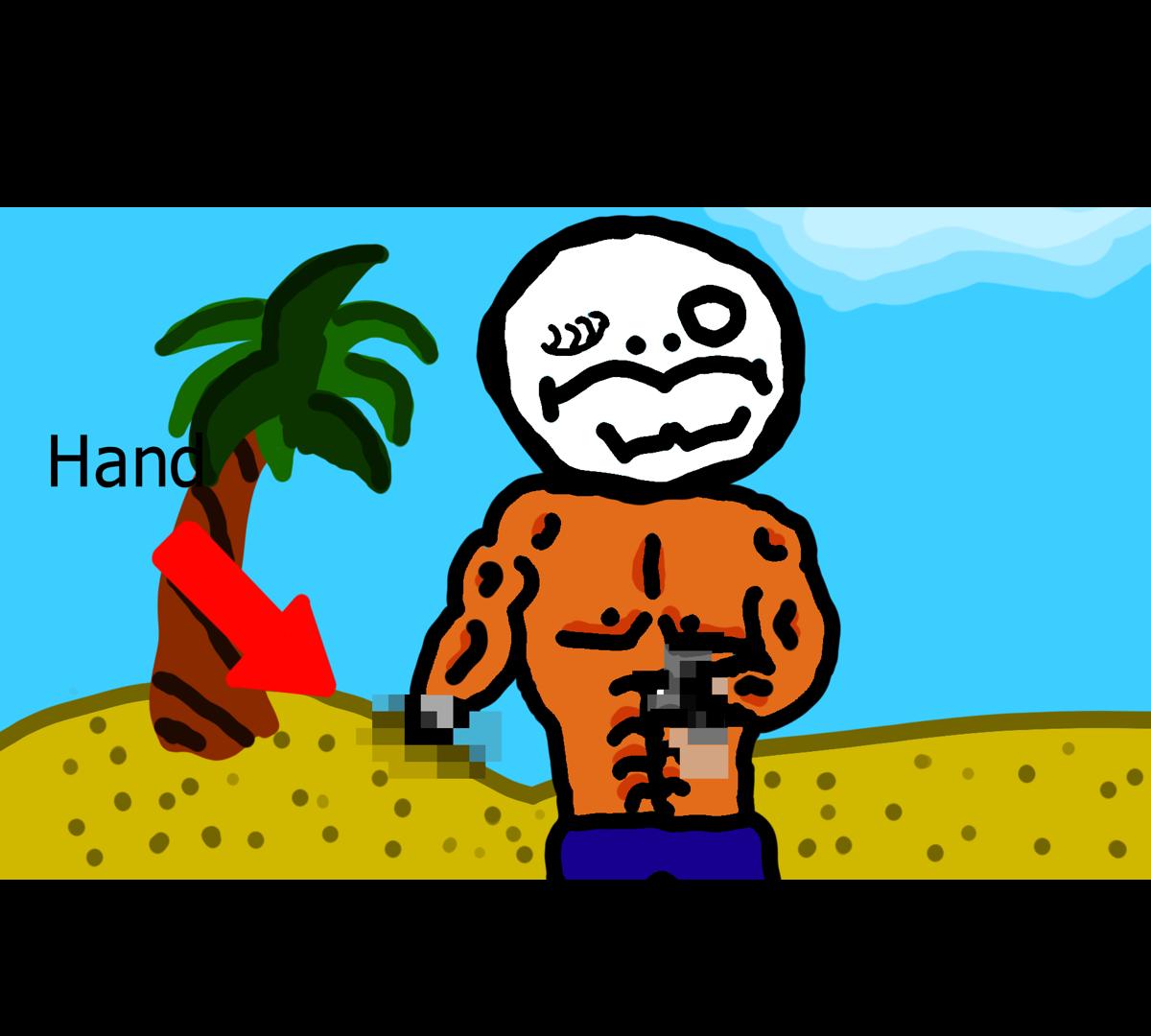 No hand man