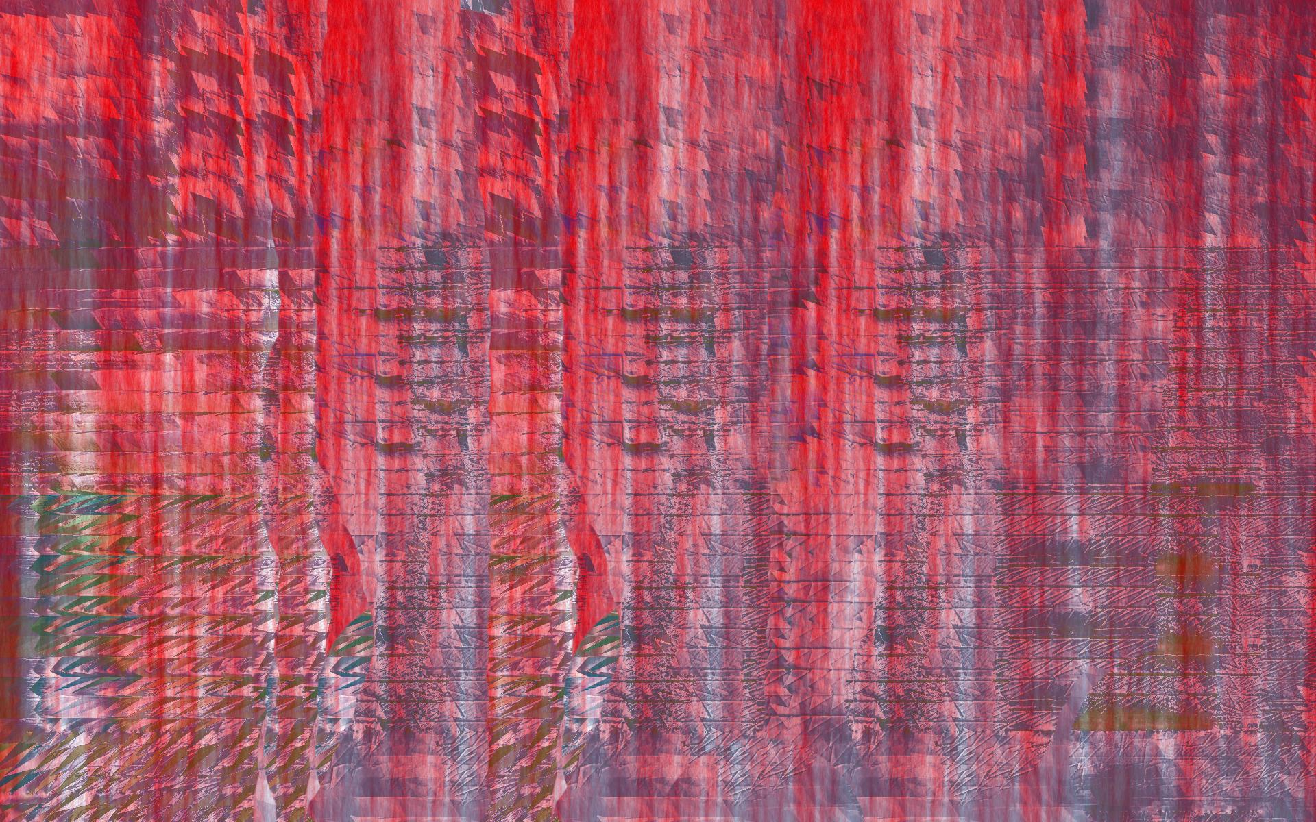 red glitch background