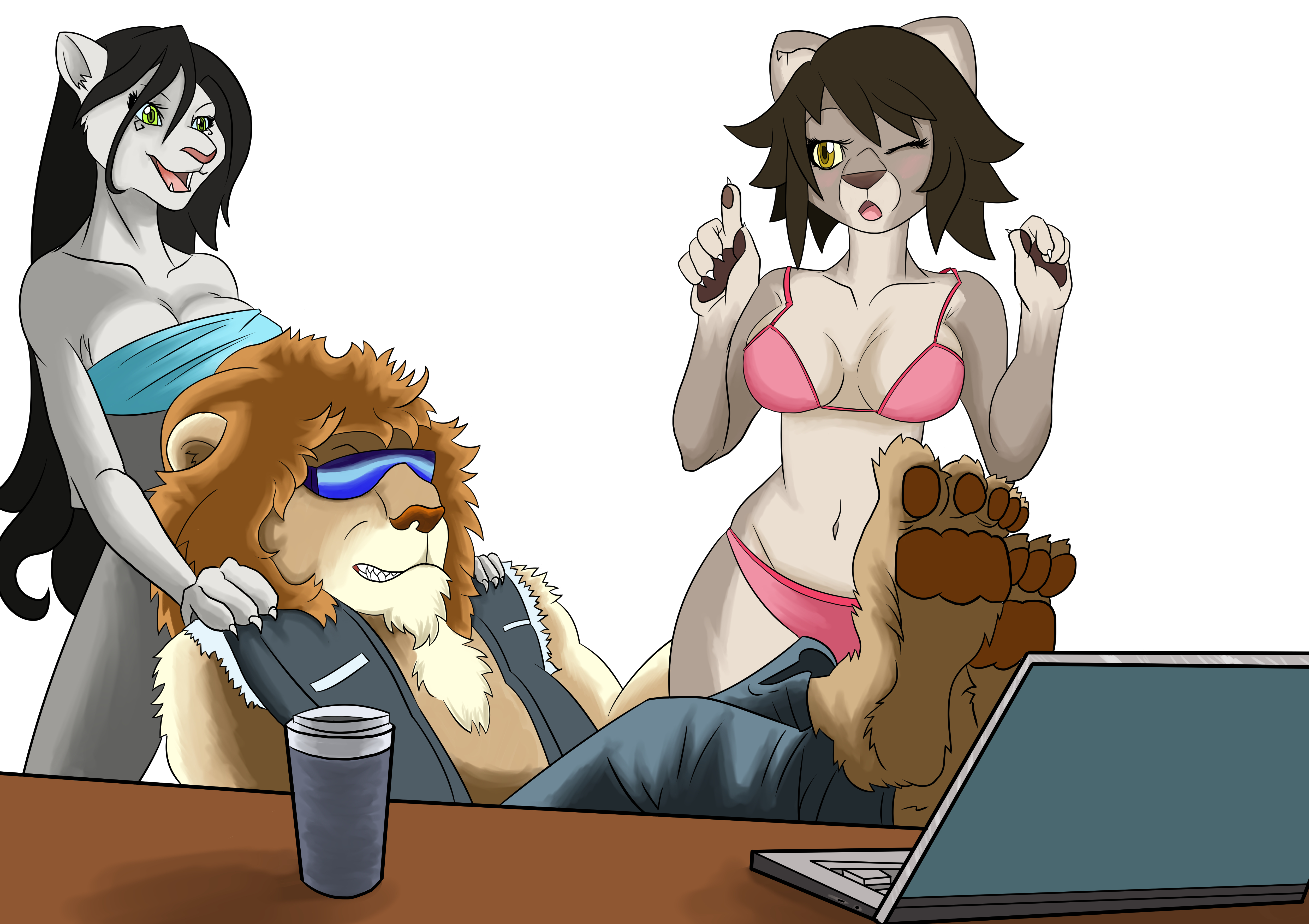 Lion Relax (commision job 2013)