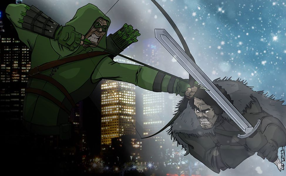green arrow vs jon snow
