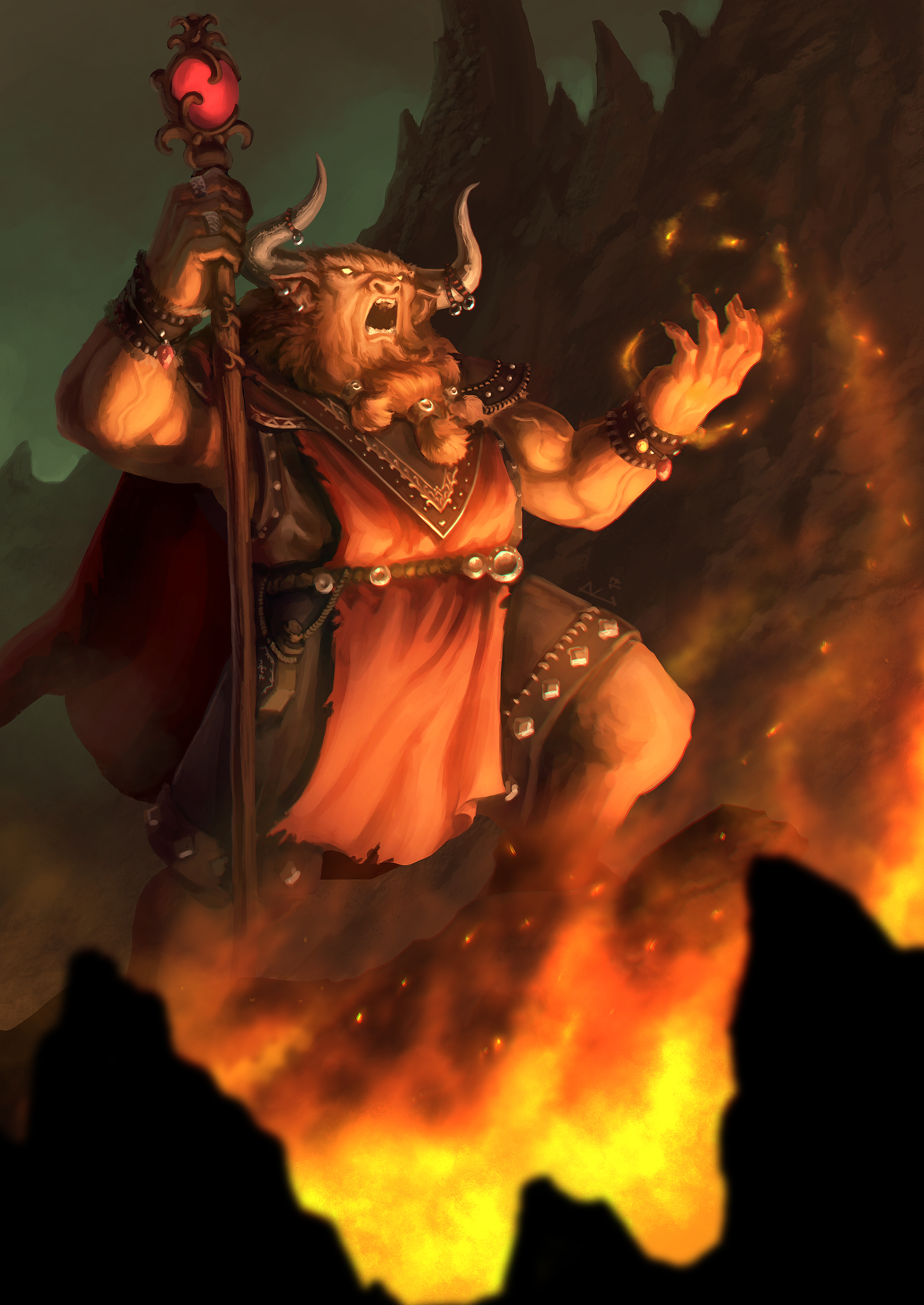 Minotaur Elementalist