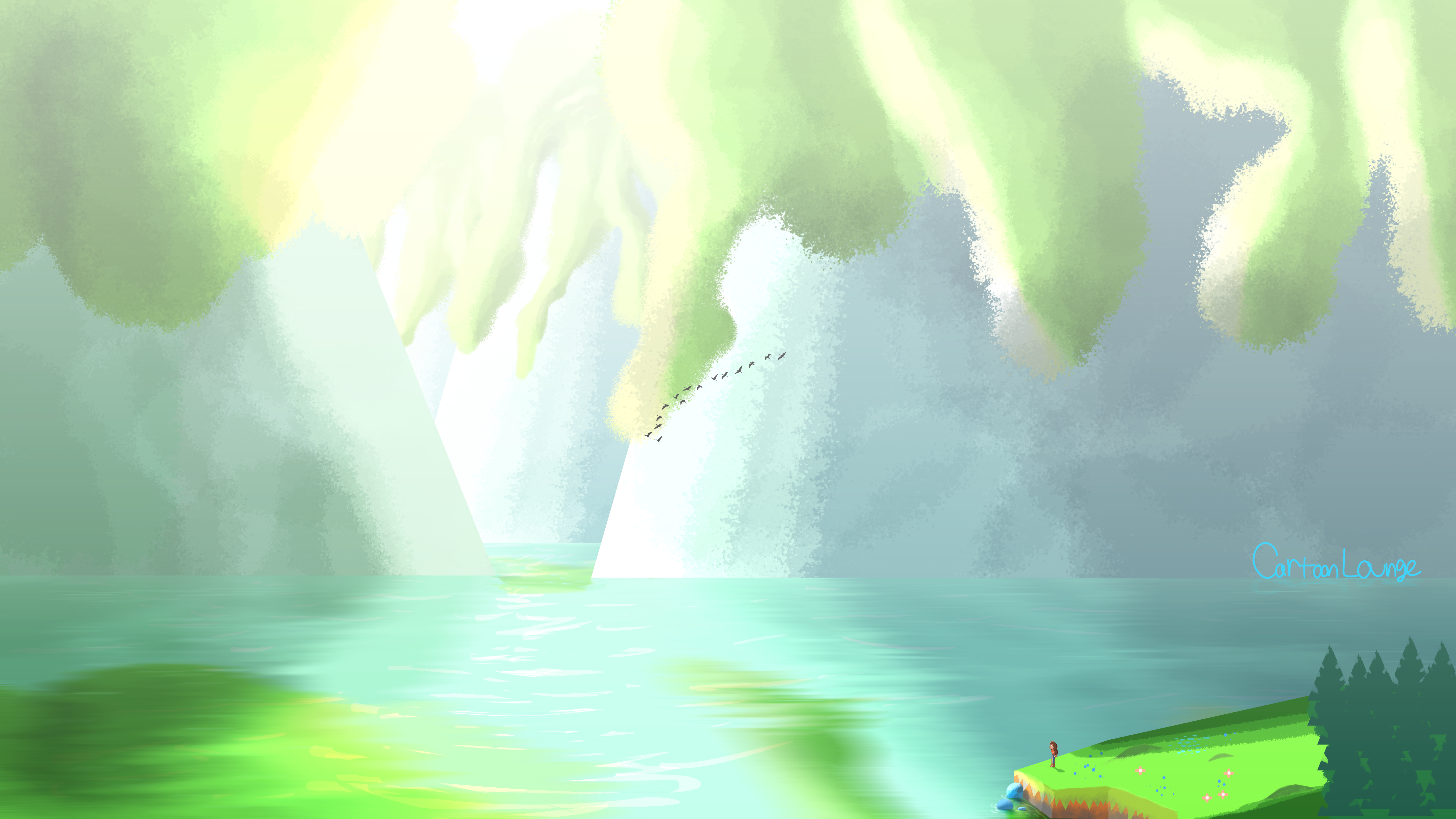 Concept Art: Tiny Island in a Huge Lake