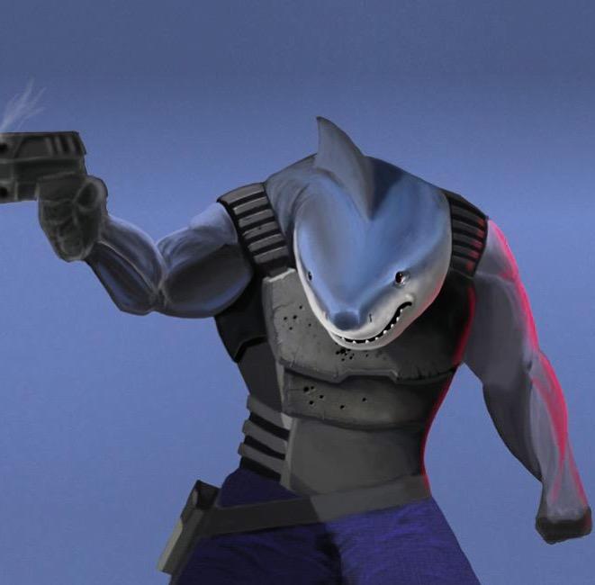 Bones, the Dystopian Police Shark