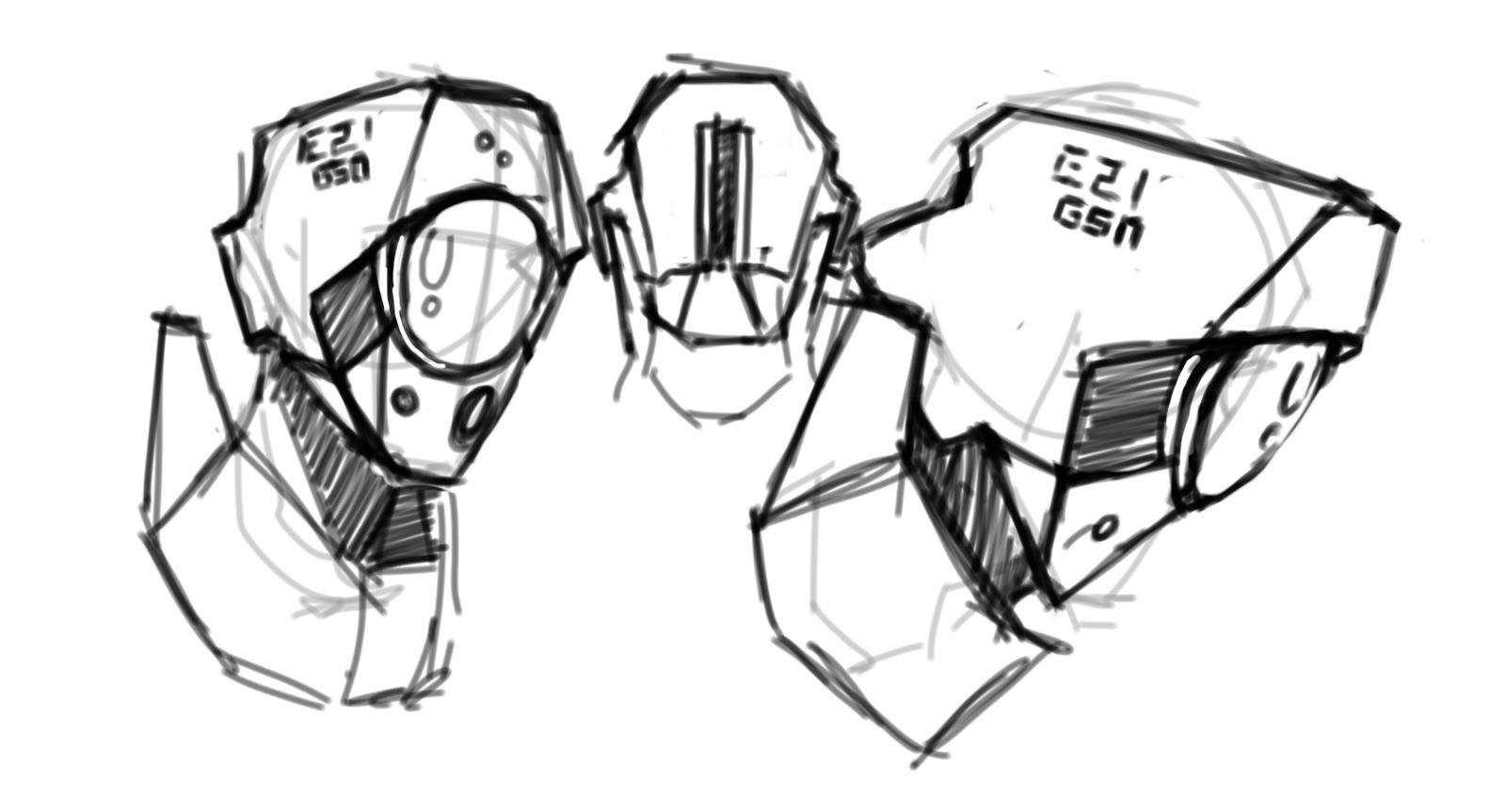 Sketch Design - GSN Helmet