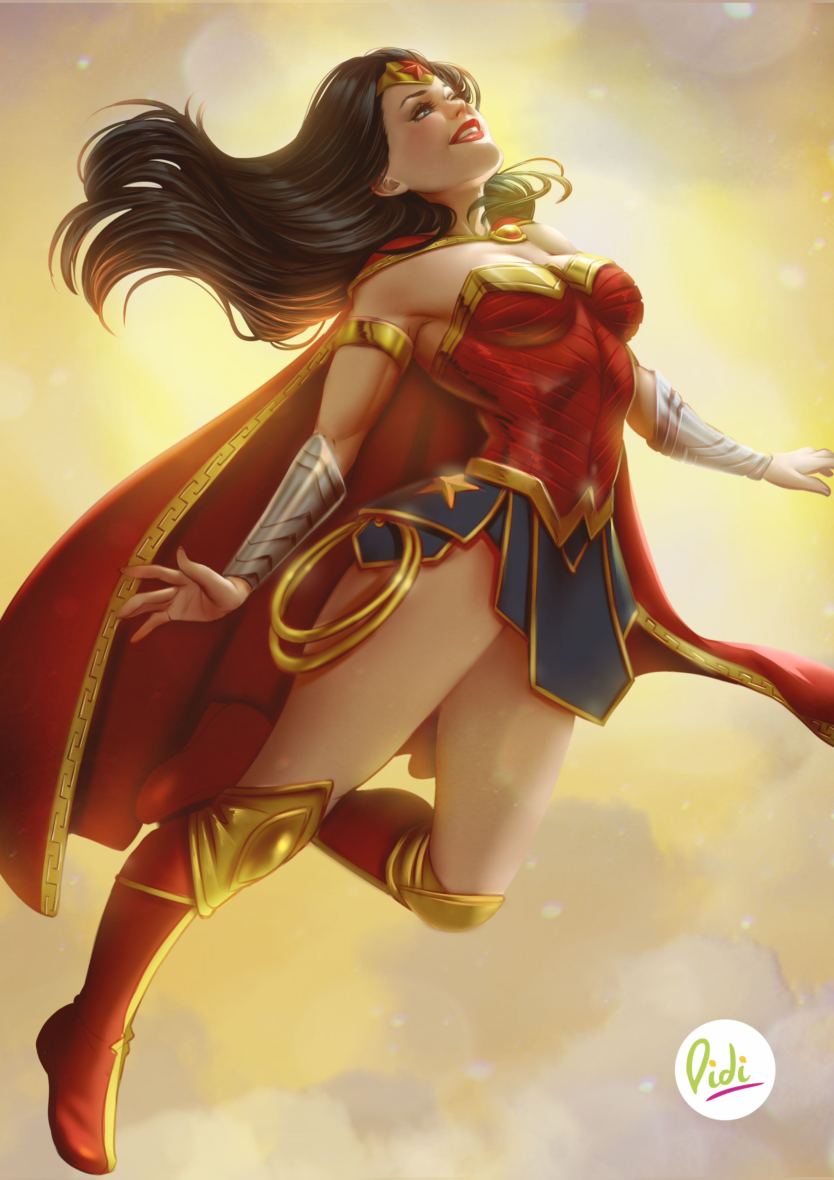 Wonder Woman Happy