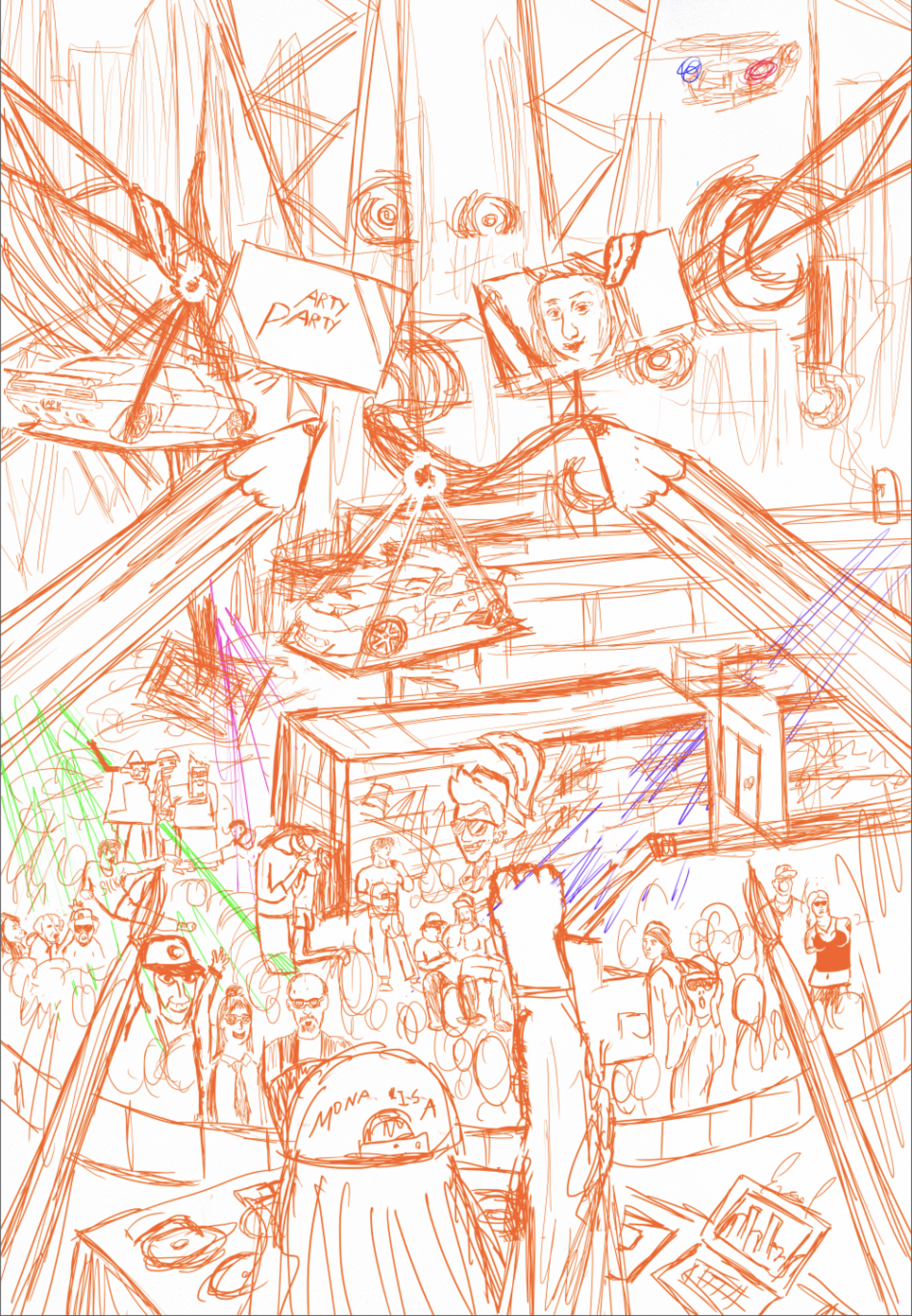 Epic Arty Party Sketch