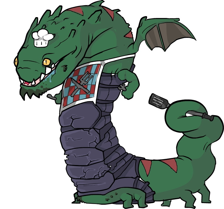 It's a dragon chef :D