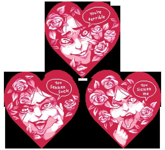 rude rude valentines