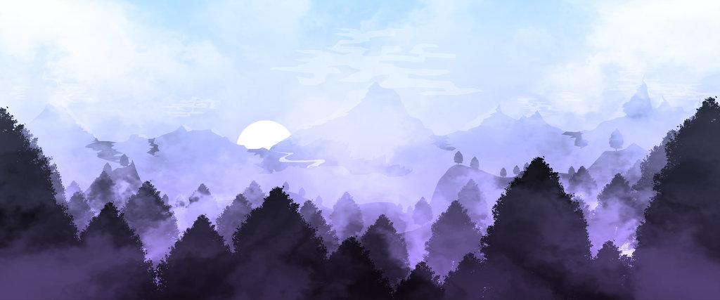 / Landscape Illustration 5 // Twilight /