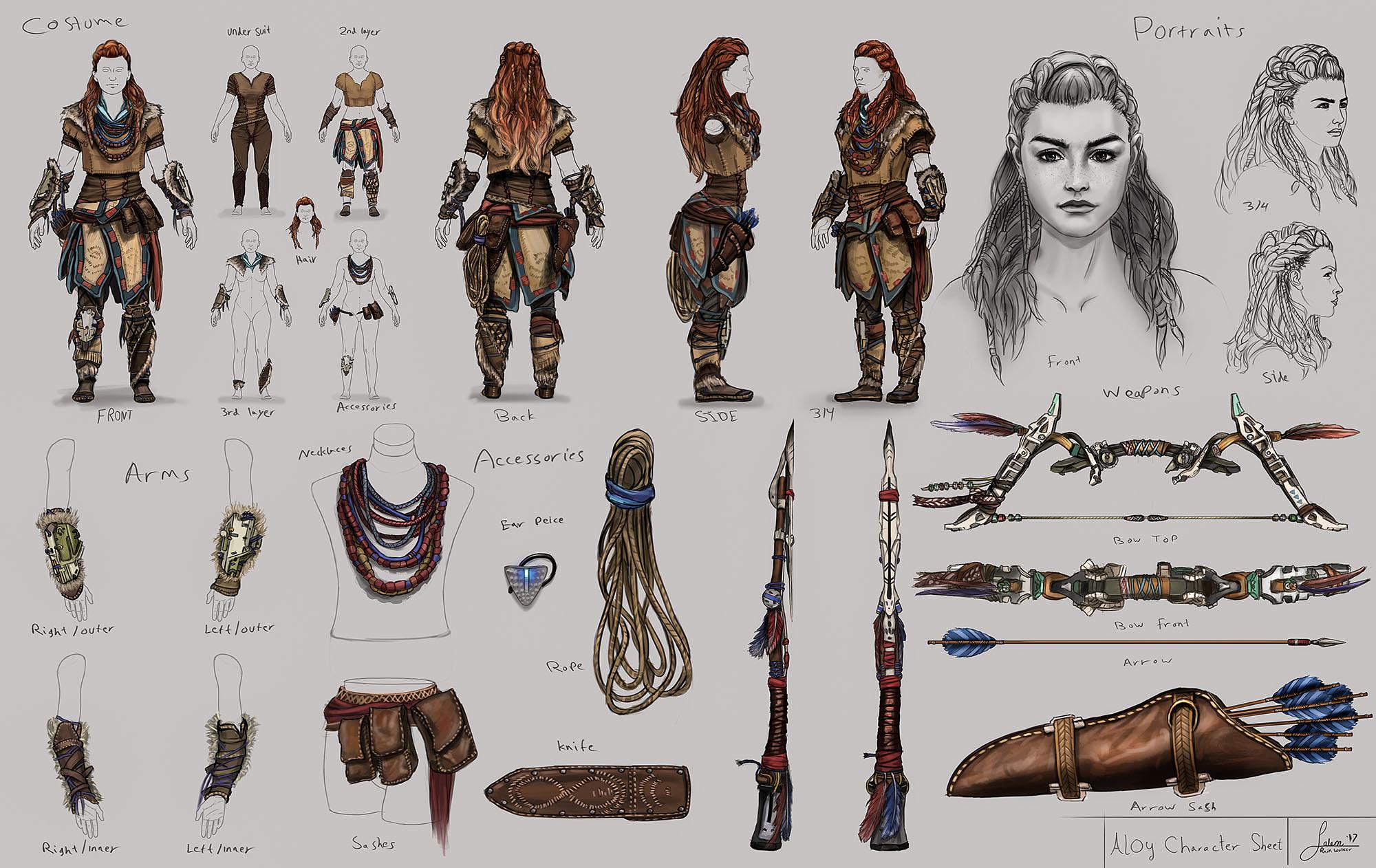 Fan Art Aloy Horizon New Dawn Character Design Study