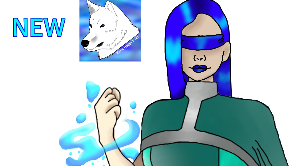 """Redraw of my character Miss Fantastic """"Wednesday"""""""
