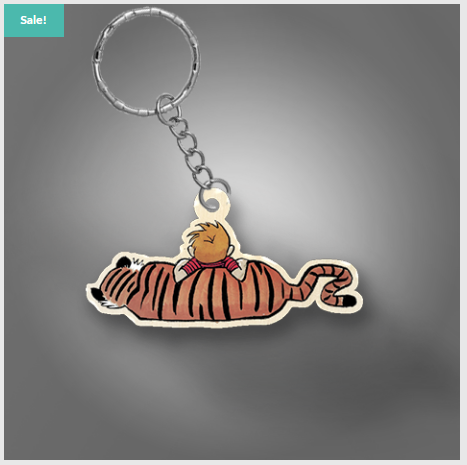 Boy and his Tiger Keychain