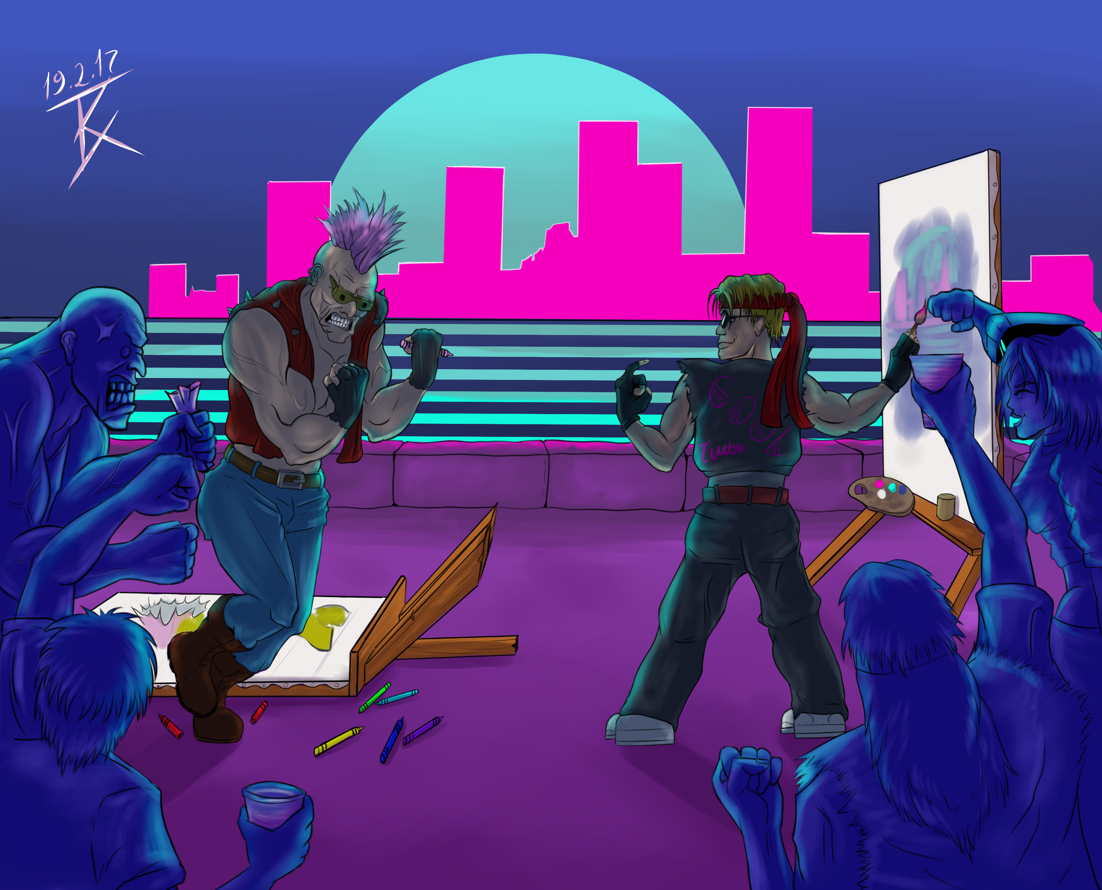 80s-themed Arty Party