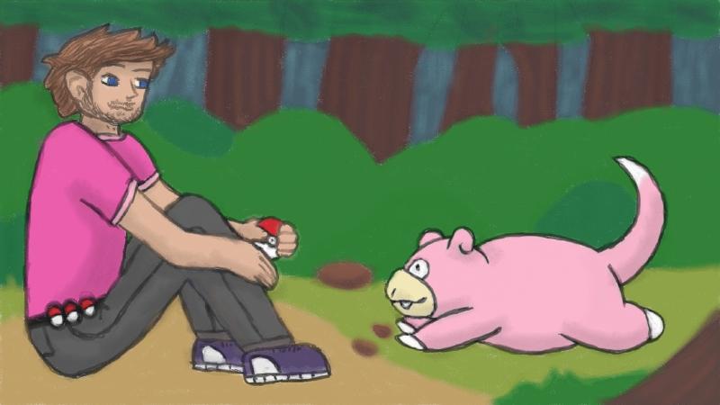 K7vin and his slowpoke fan art