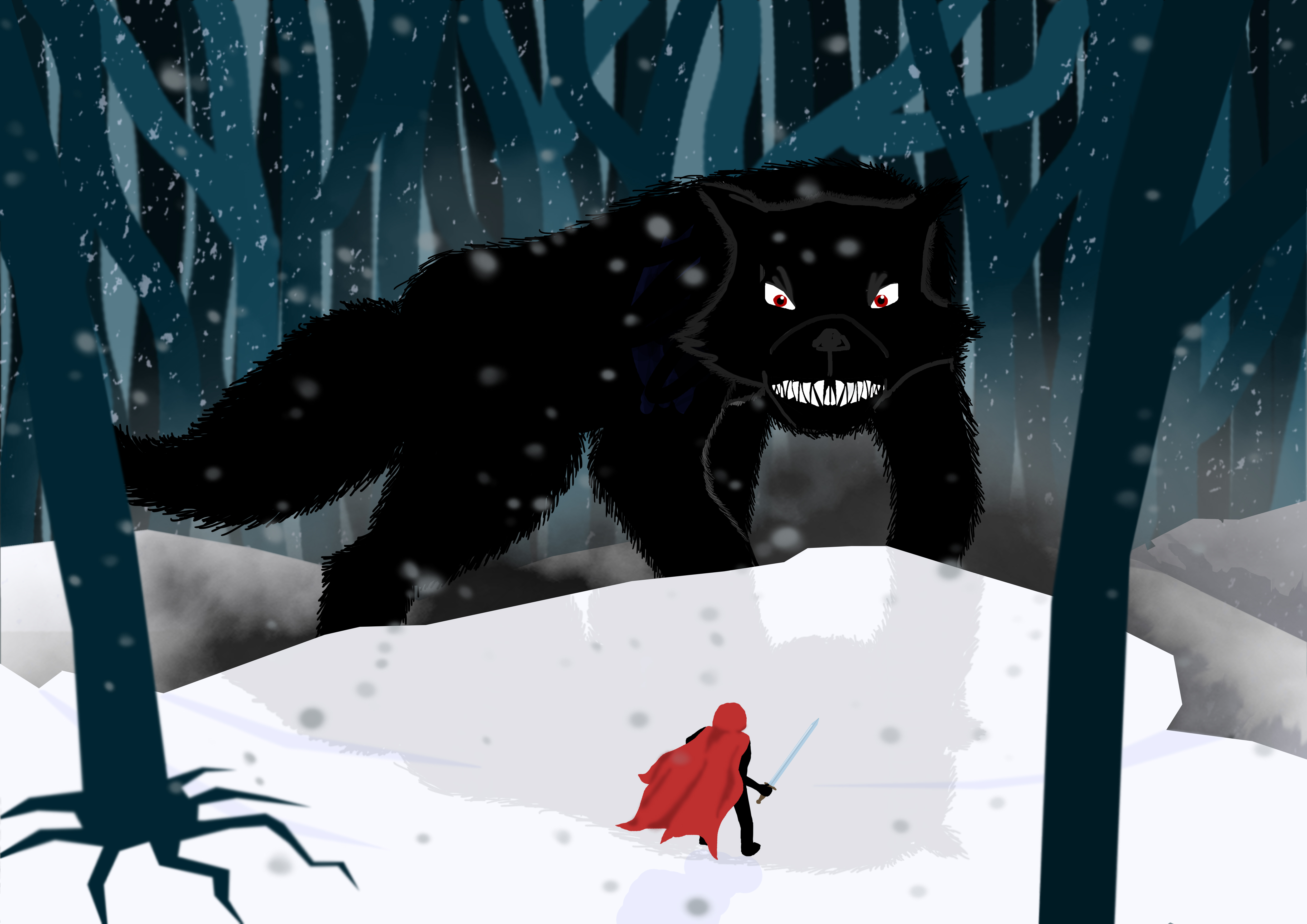Warrior Red and the Big Bad Wolf