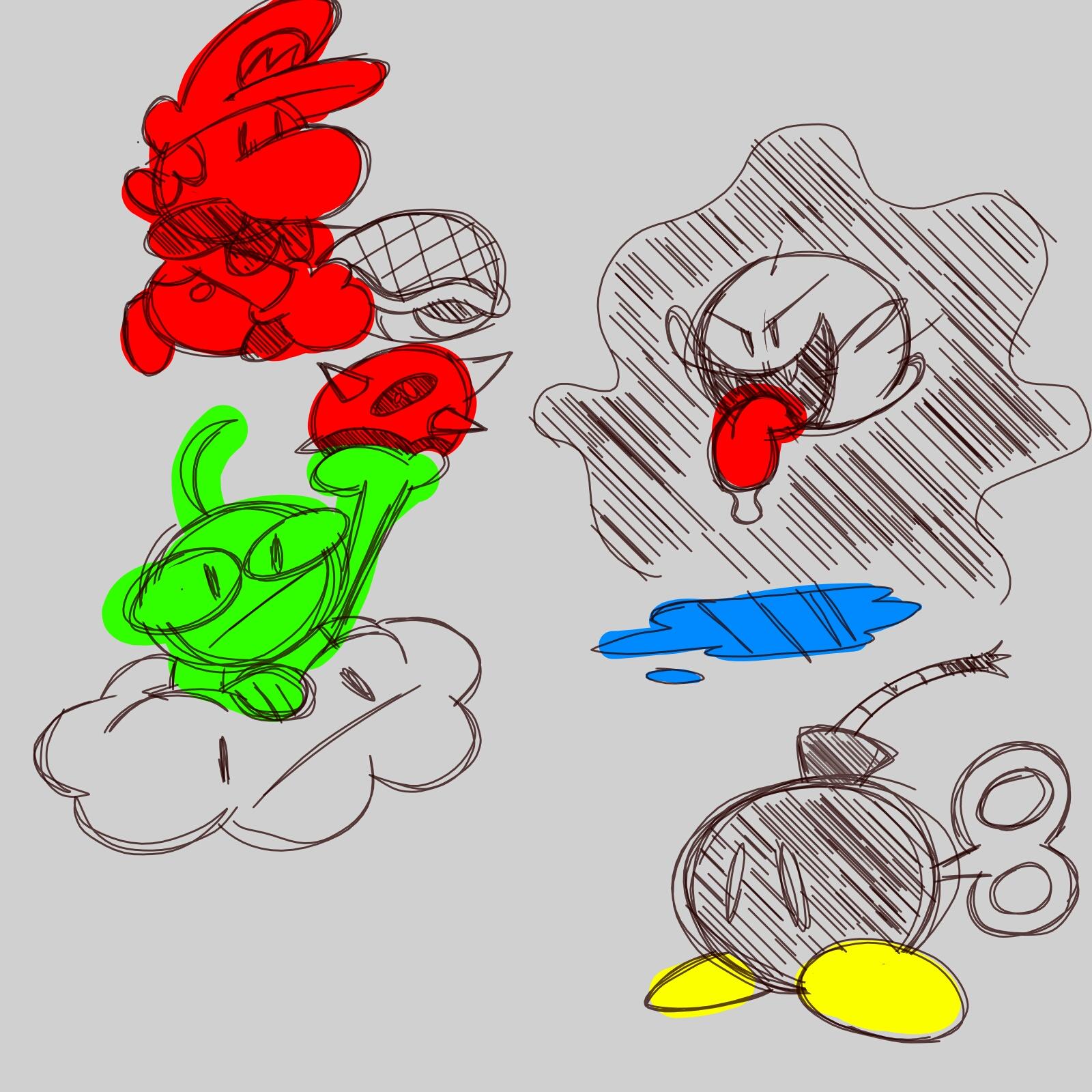 Super Mario Sketches!
