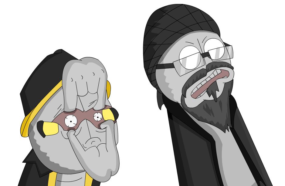 Chu and Walther like Rick and Morty by Tarraka