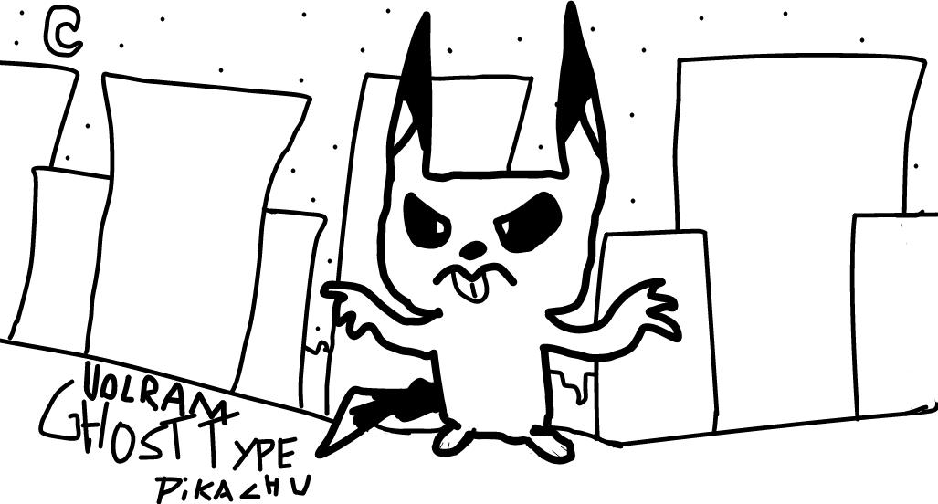 Ghost Type Pikachu