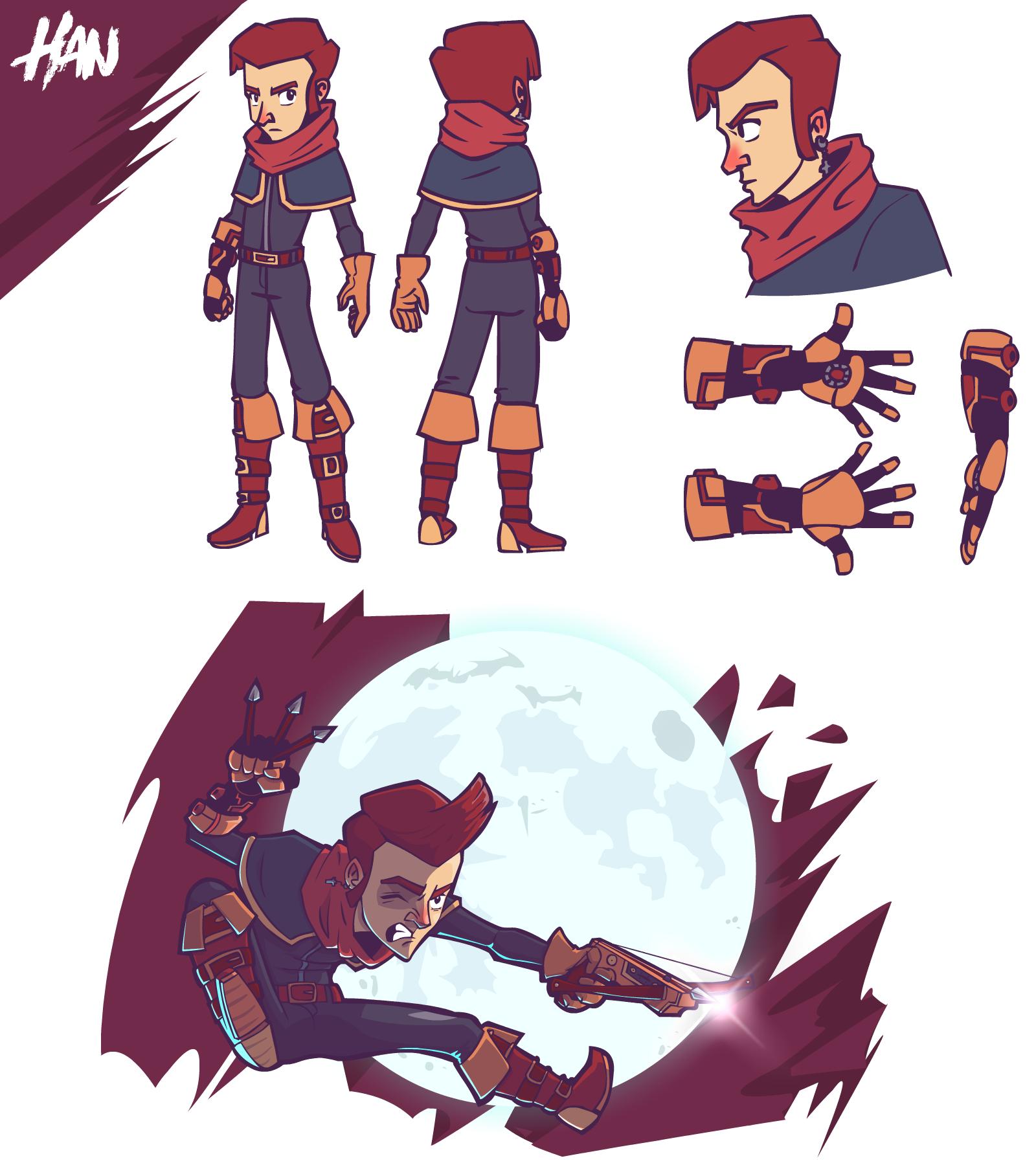 Han character design