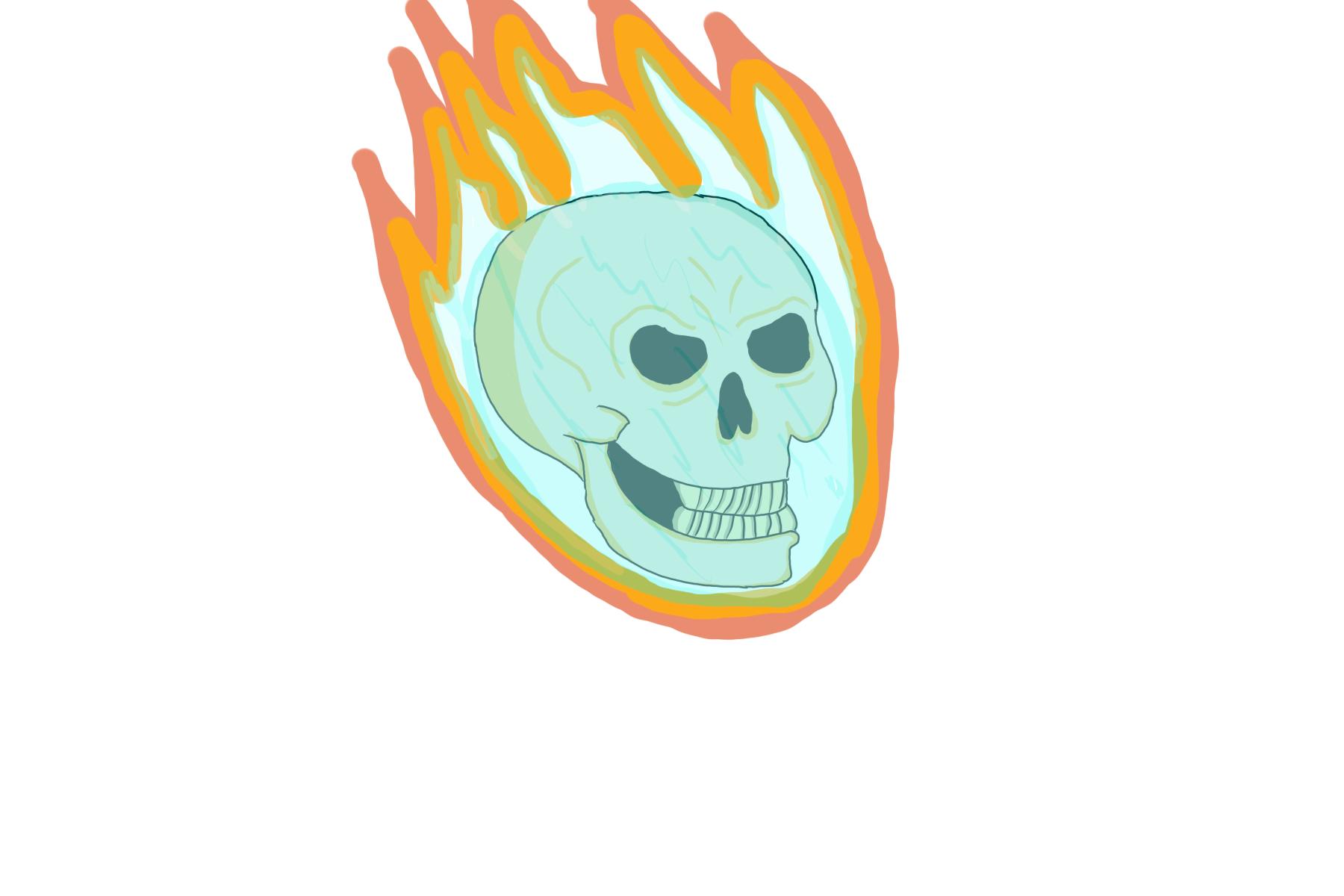 dumb skull I did