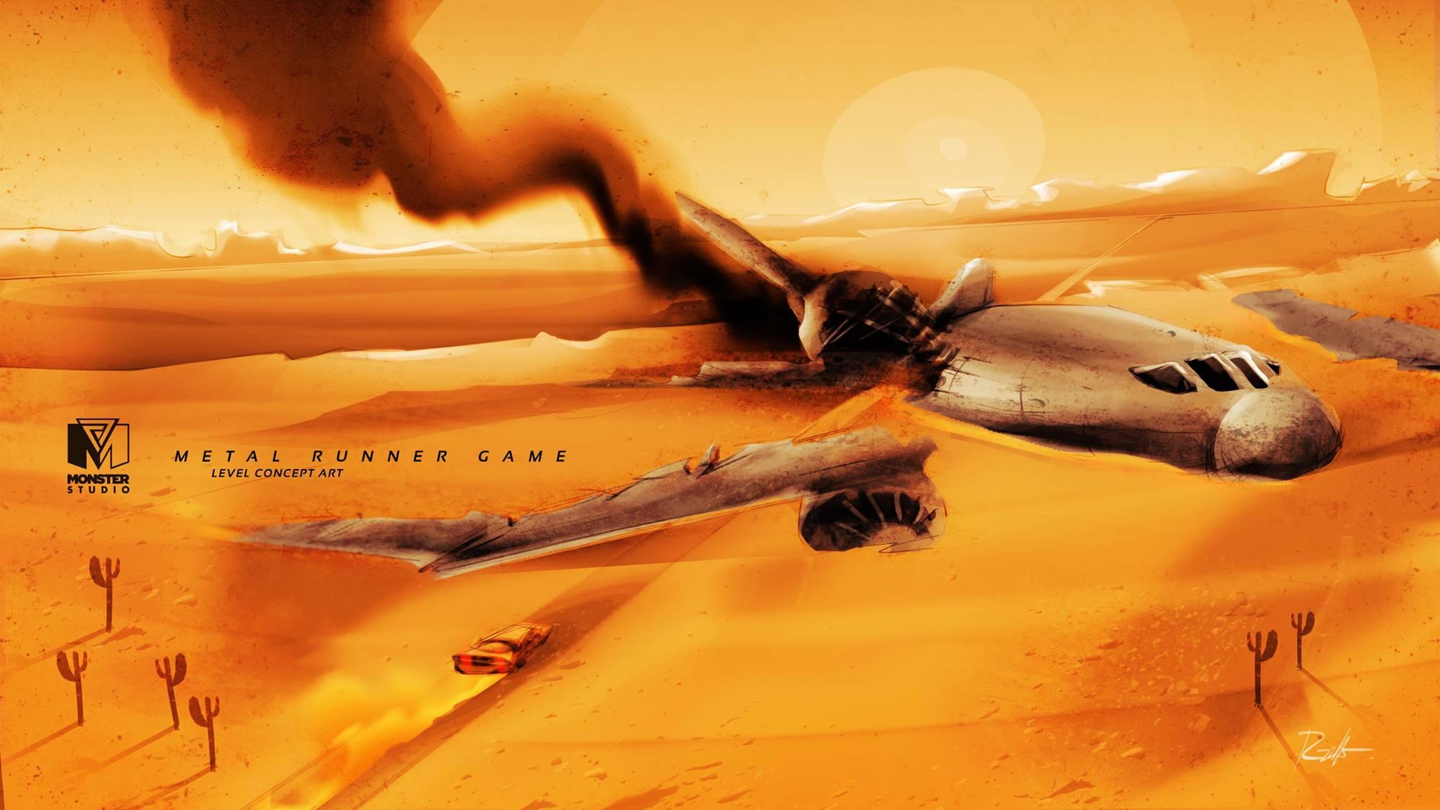 Airplane - Level Concept Art