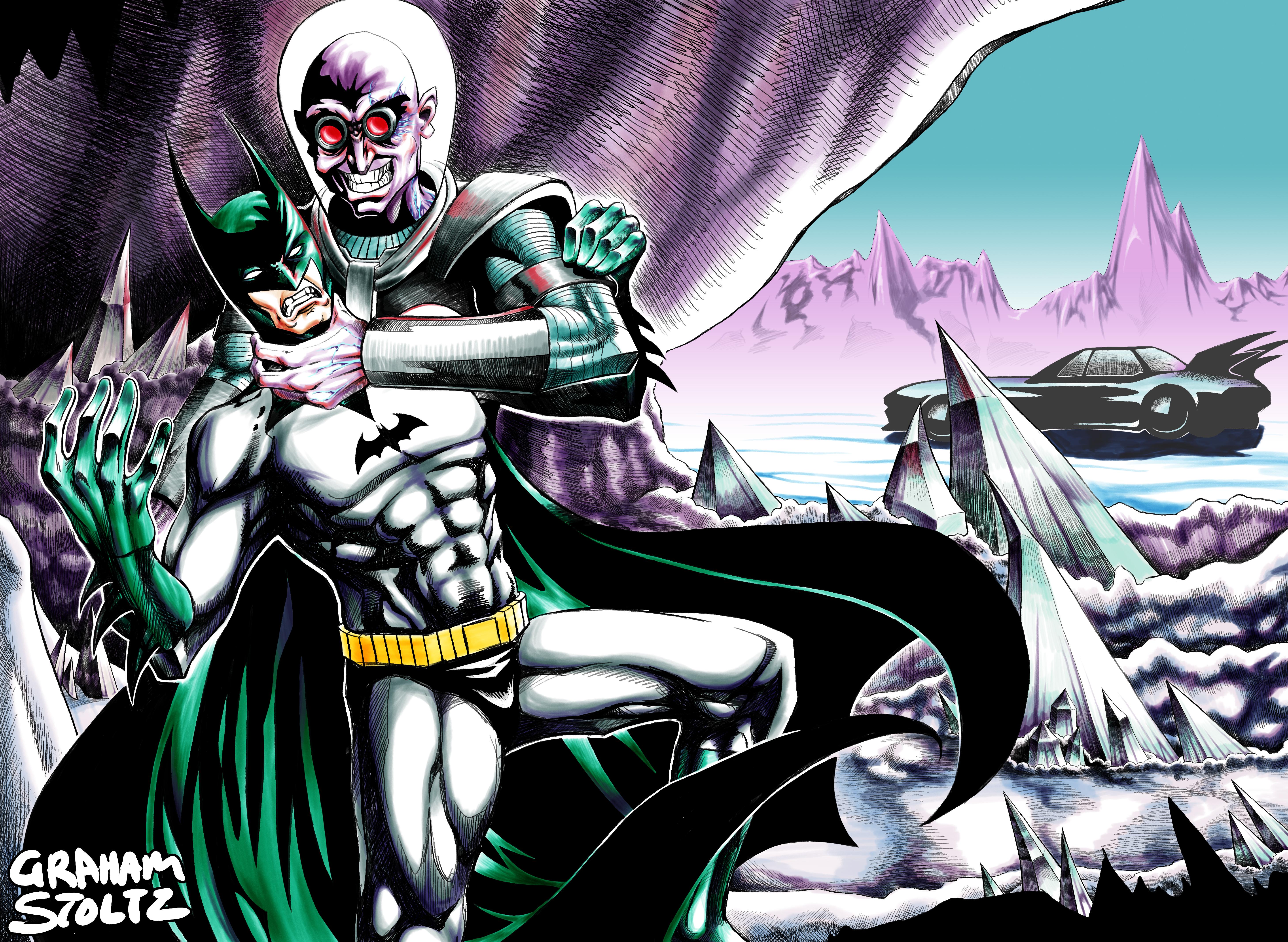Batman and Mr. Freeziepop