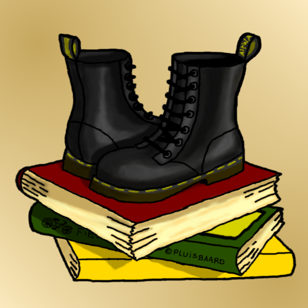 Books and Dr. Martens