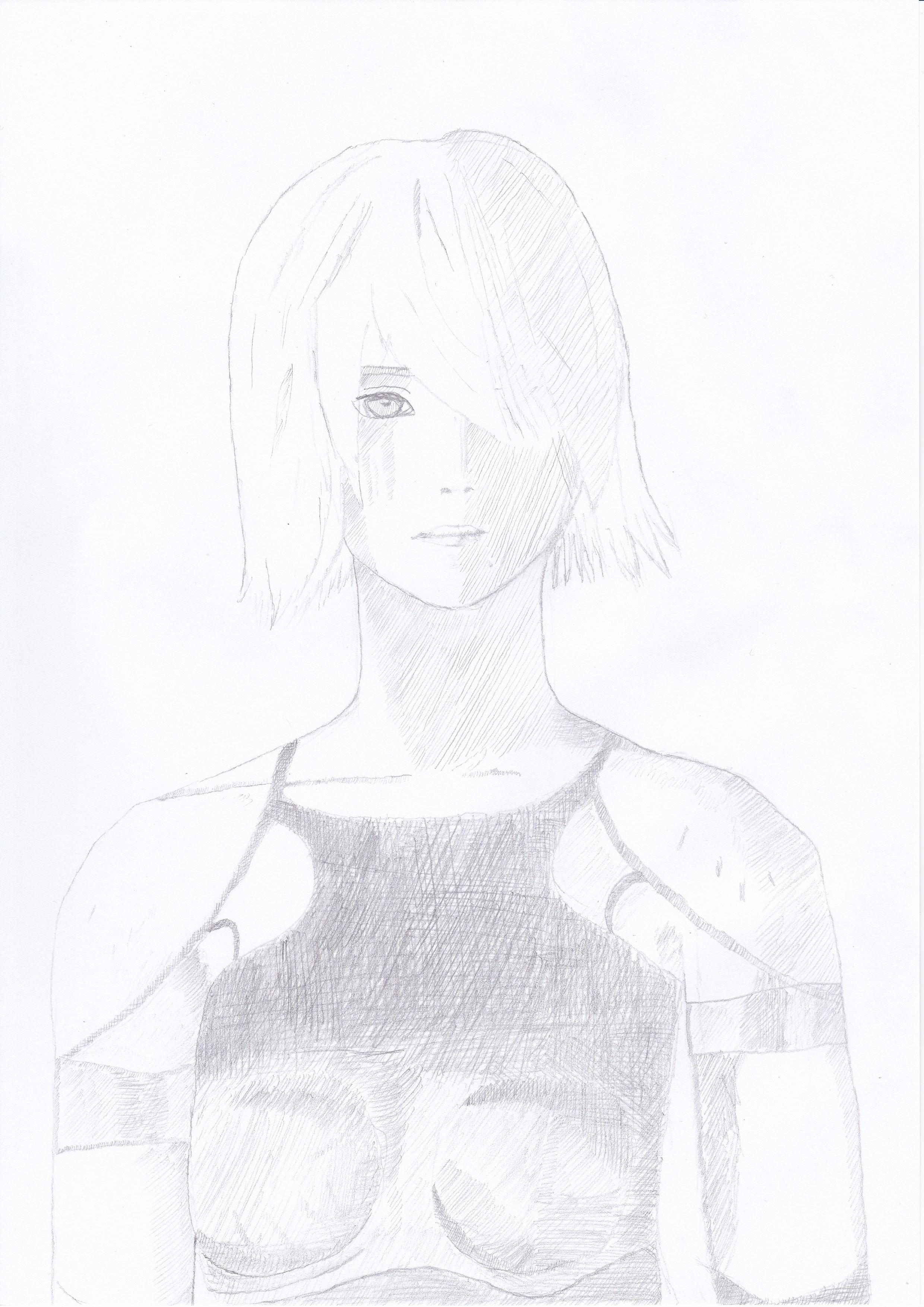 NieR Automata Pencil Drawing