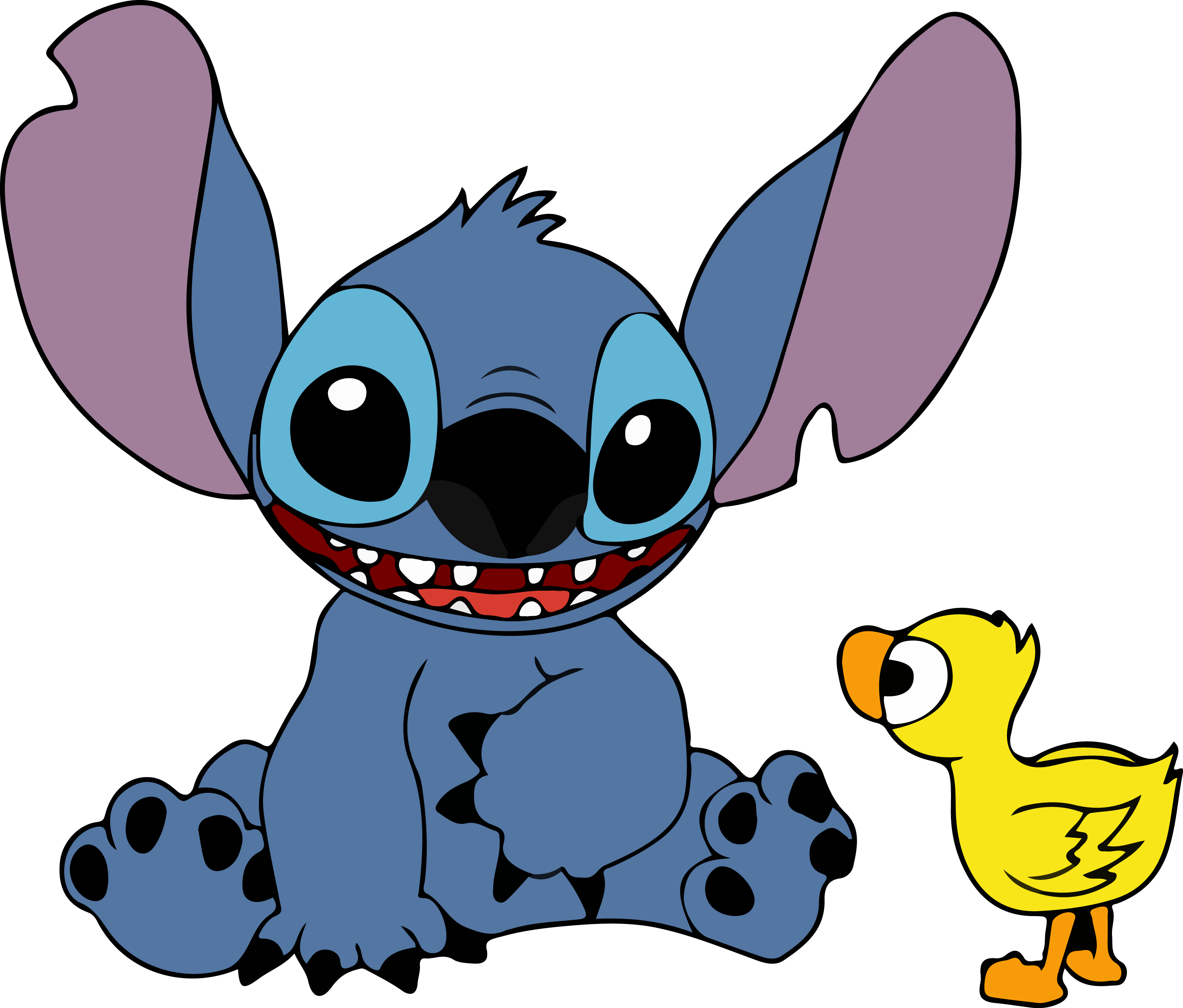 Stitch and Duck Vector