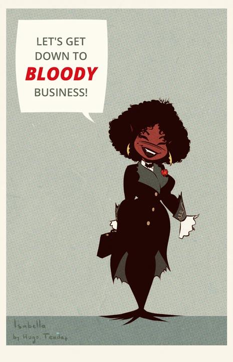 Isabella - My Vampire Wife - Cartoony PinUp
