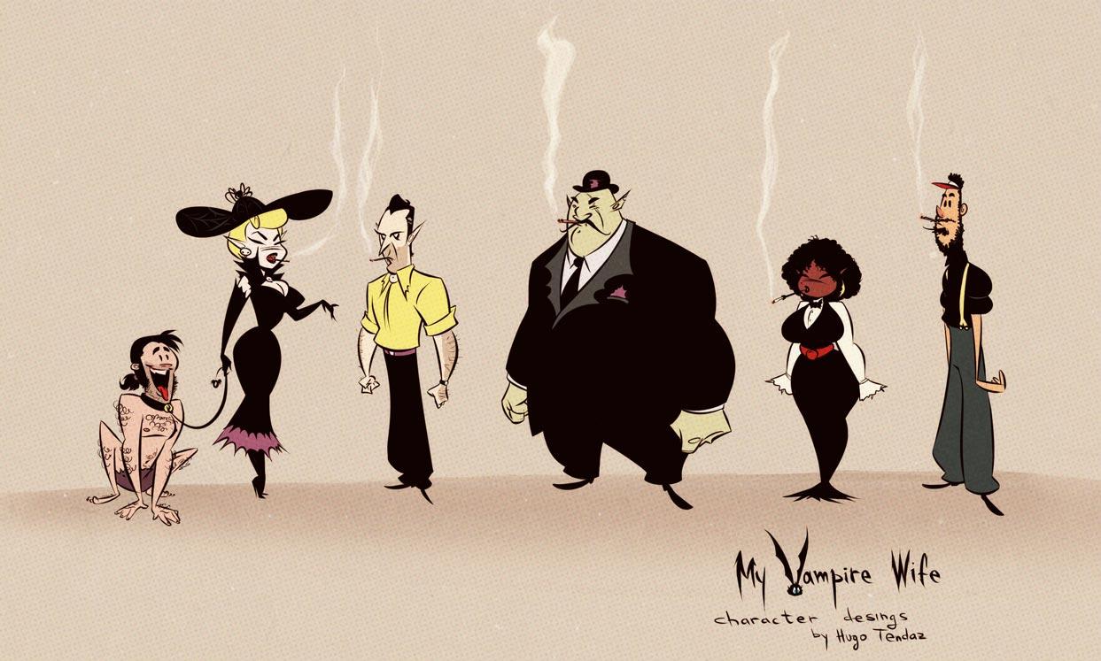 My Vampire Wife - Webcomic Character Designs