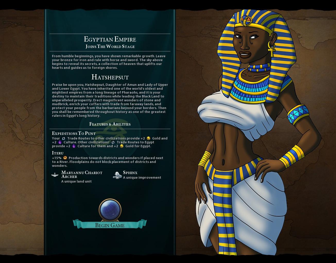 Hatshepsut Mod for Civ 6