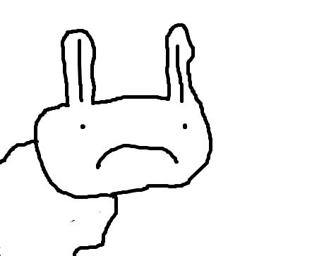 crappy MS Paint rabbit :>