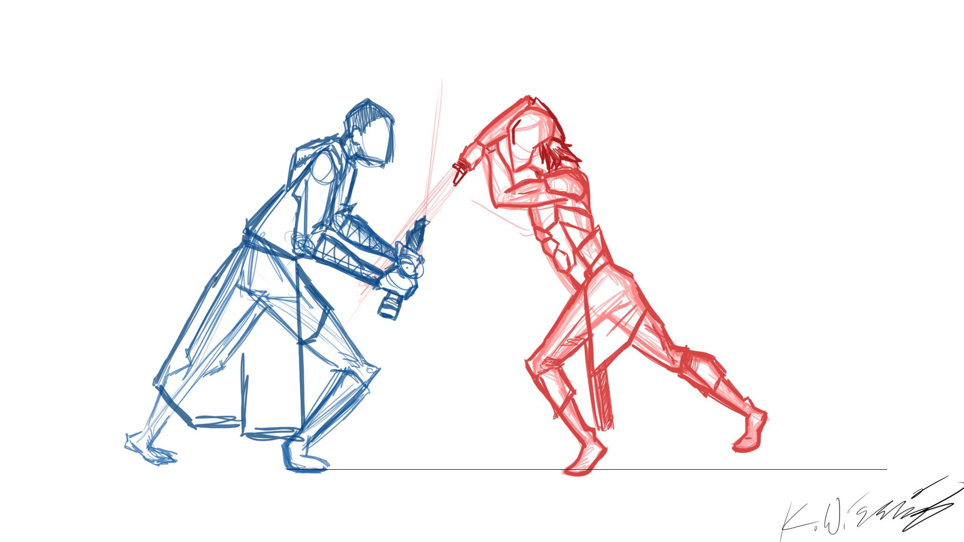 Master Matu vs. Darth Sados WIP