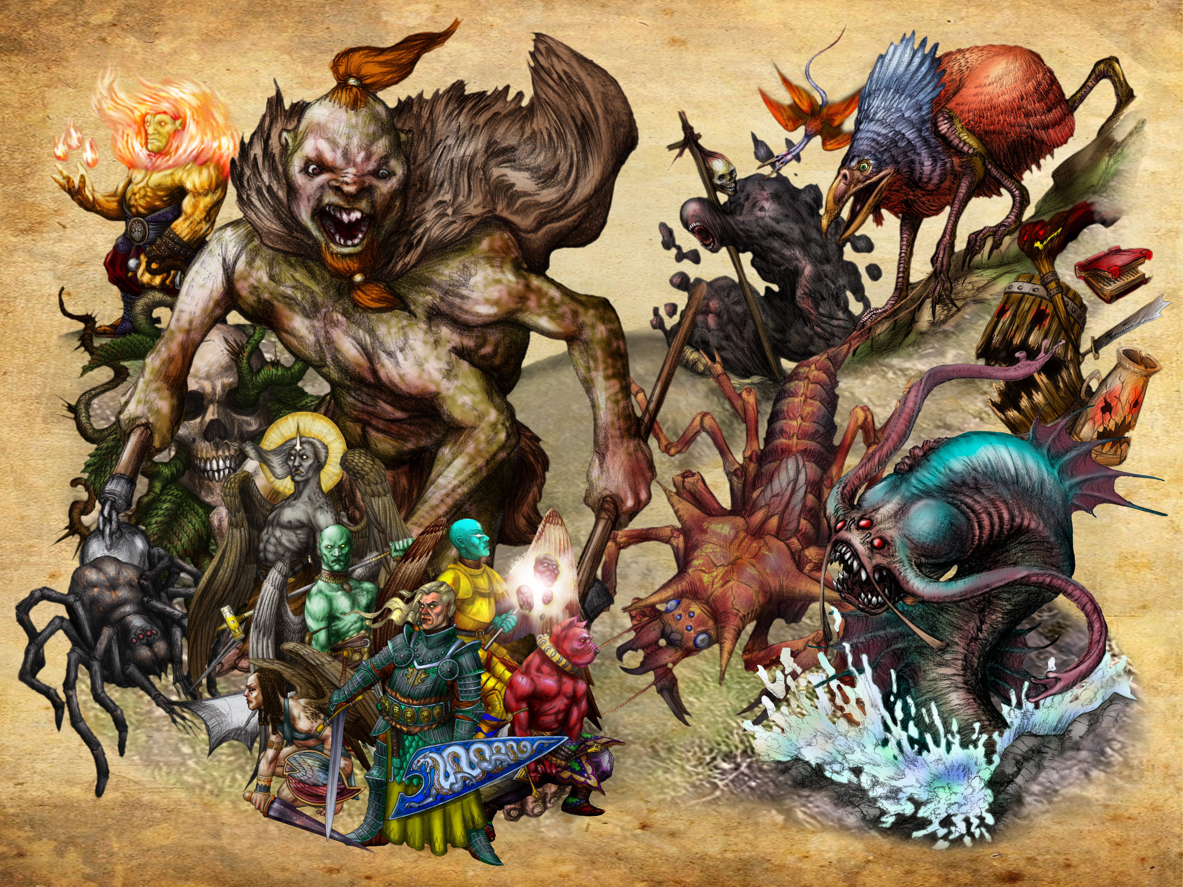 A-list DND Monsters by ahmonza on Newgrounds
