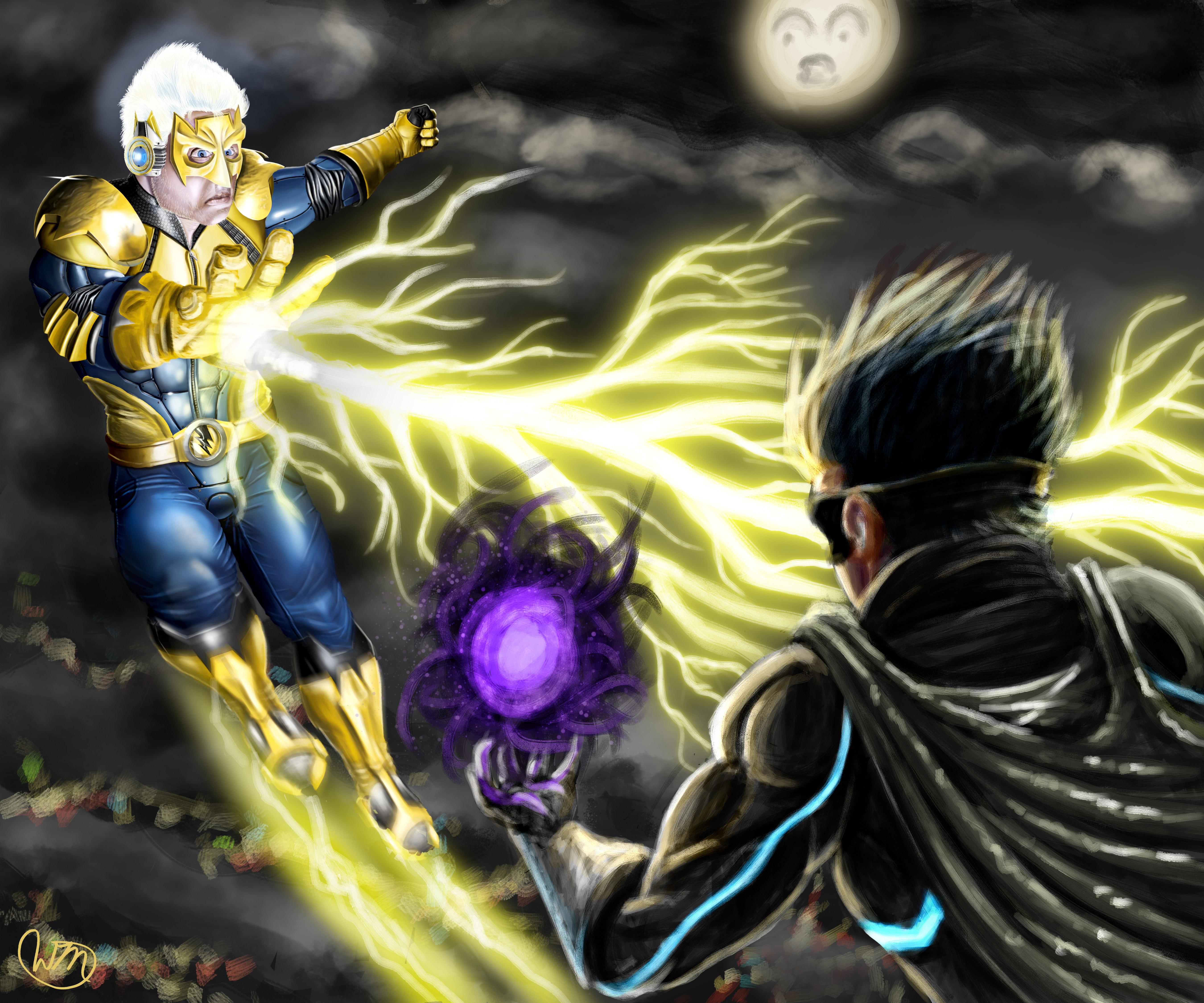 Lightning Man V.S. The WIng by WillMayesArt on Newgrounds