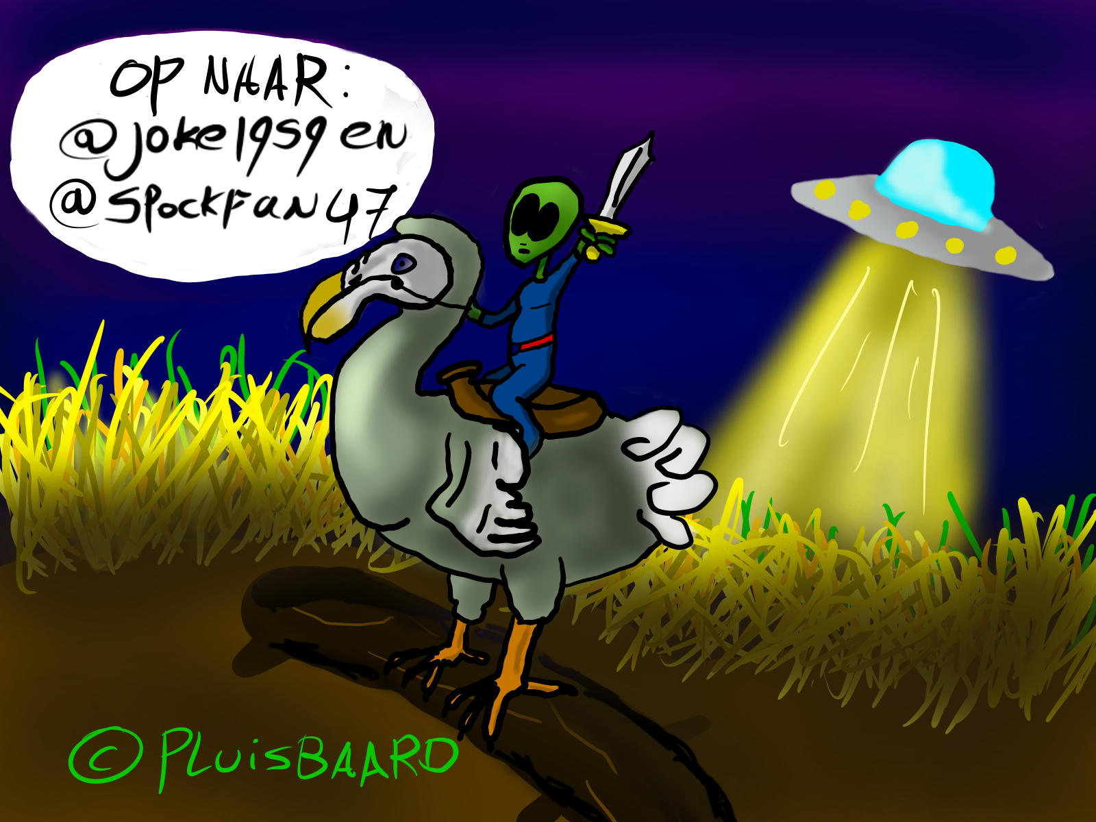 Saddle your dodo! We're going to conquer those earthlings!