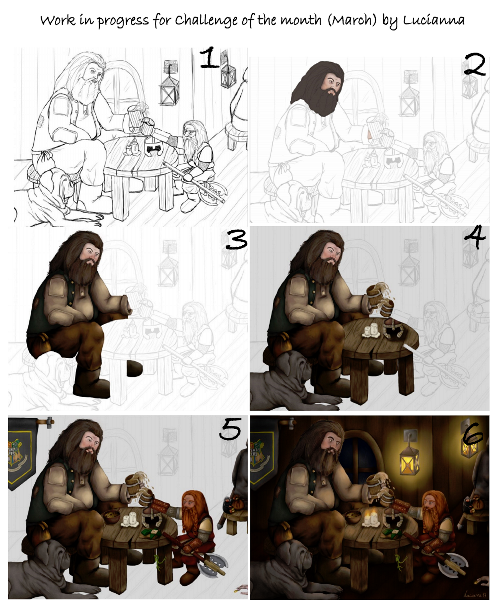 WIP Hagrid and Gimli for the challenge of the month