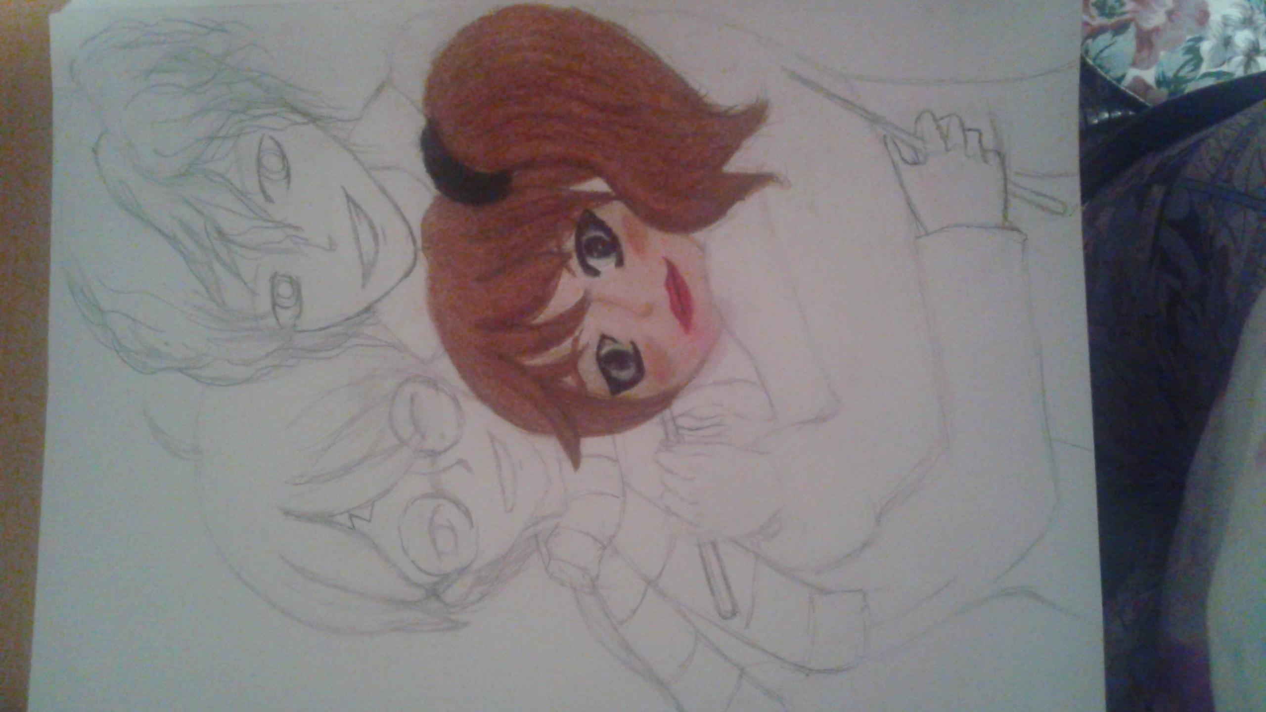 Love Triangle In progress pic
