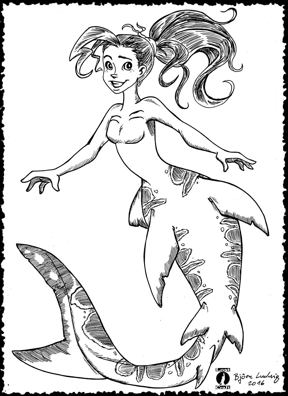 Leopard Shark Mermaid