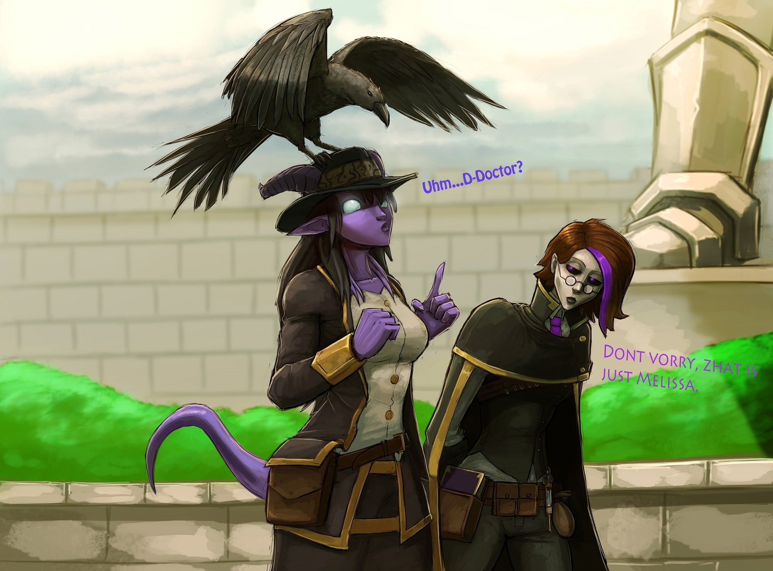 A Doctors Crow and her assistant