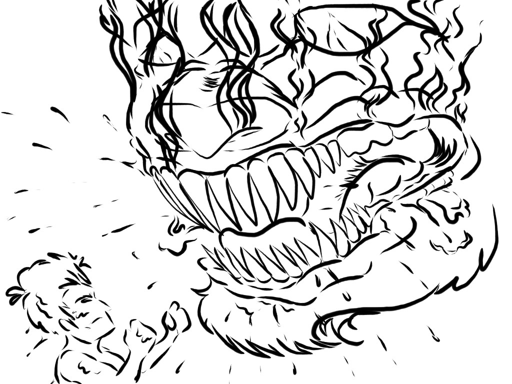 Good VS Evil Fight Sketch (Boys) - 1