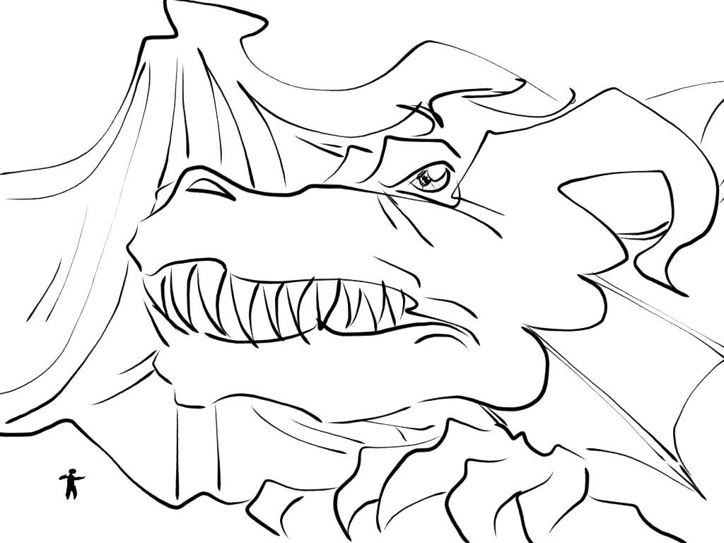 Good VS Evil Fight Sketch (Girls) - 3