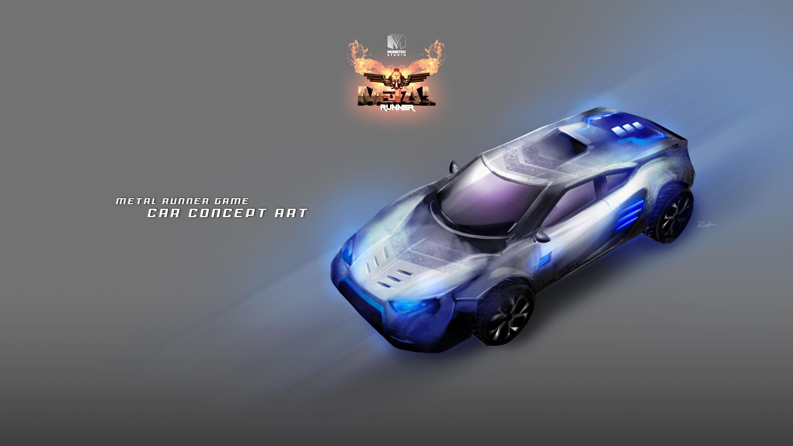 Neon Car Concept Art