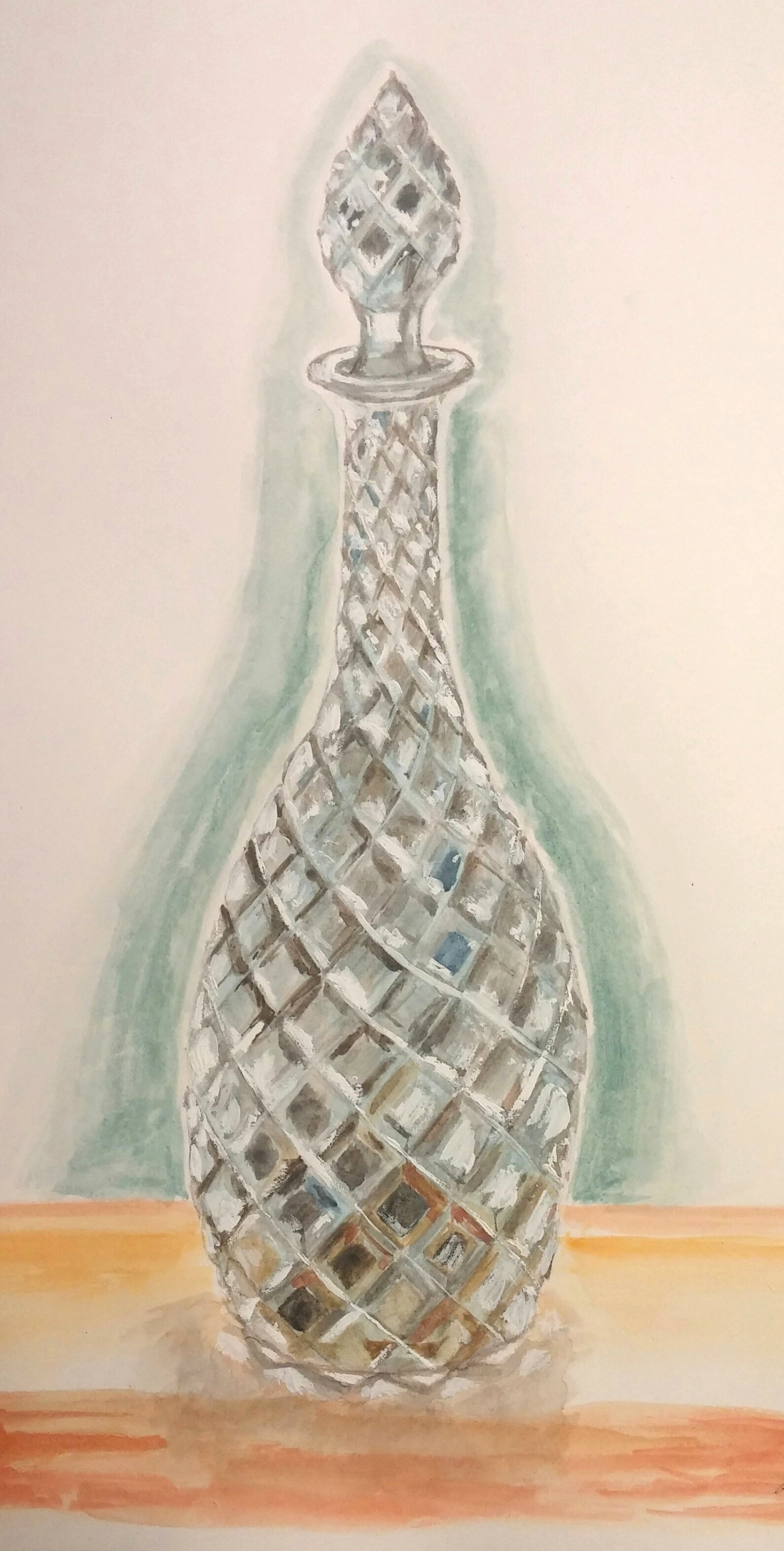 Shiny Vase - Watercolor Experiment
