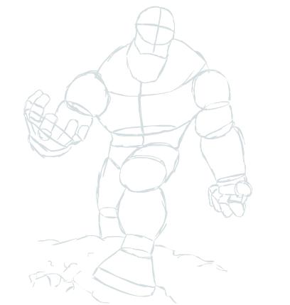 Hulk Construction Sketch