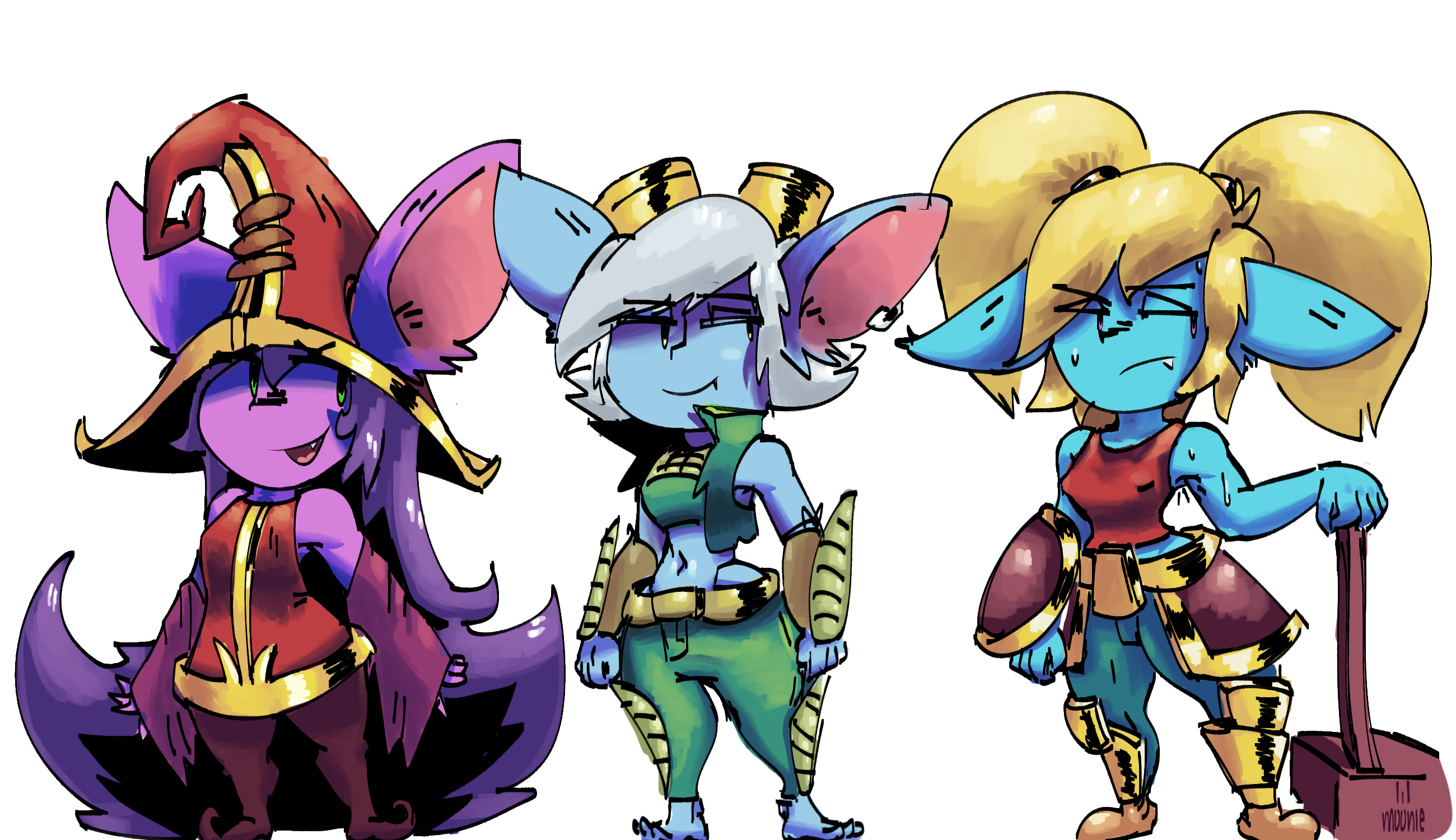yordles doing a super dynamic and challenging pose